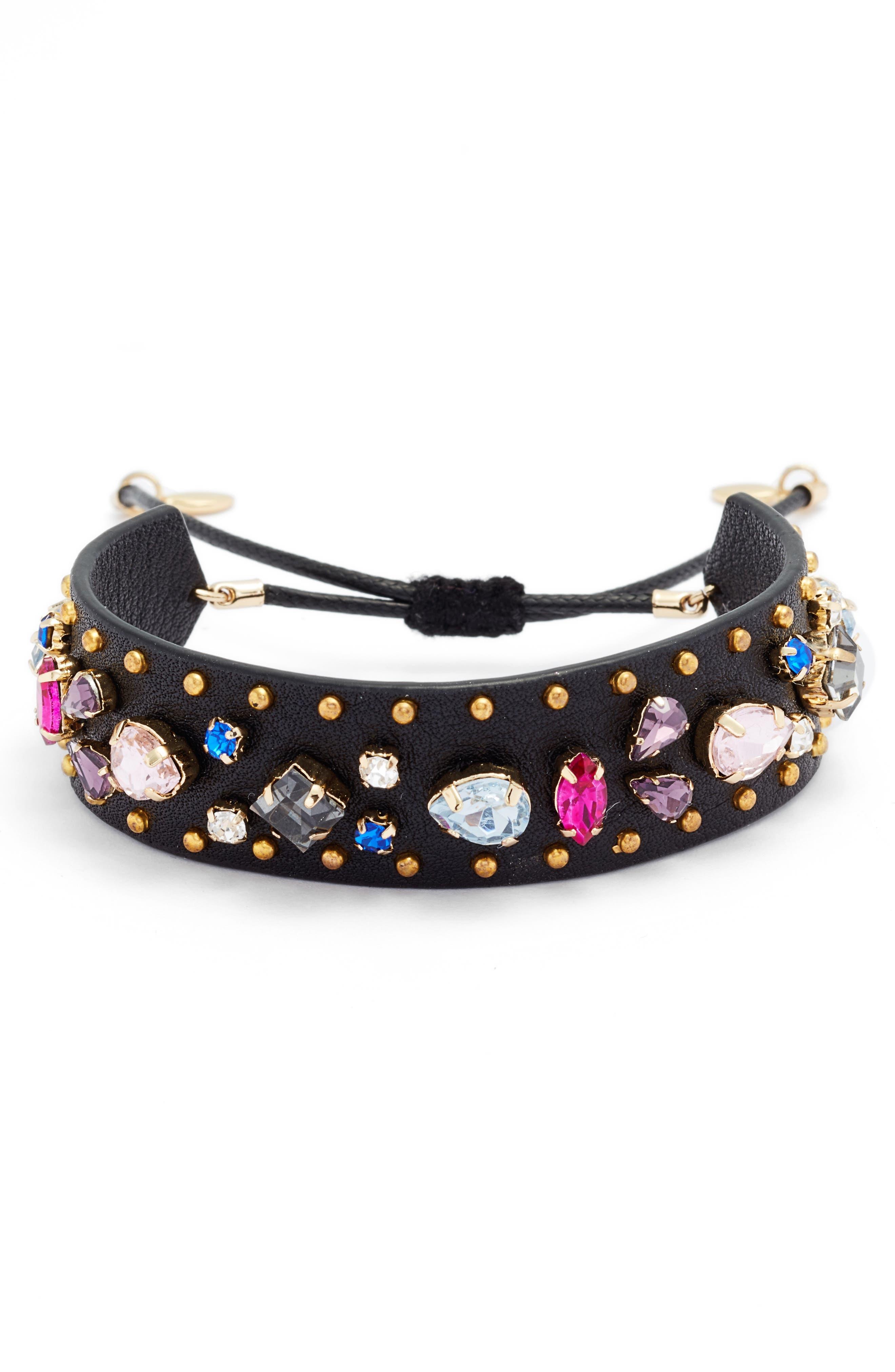 Crystal Guitar Strap Bracelet,                         Main,                         color,