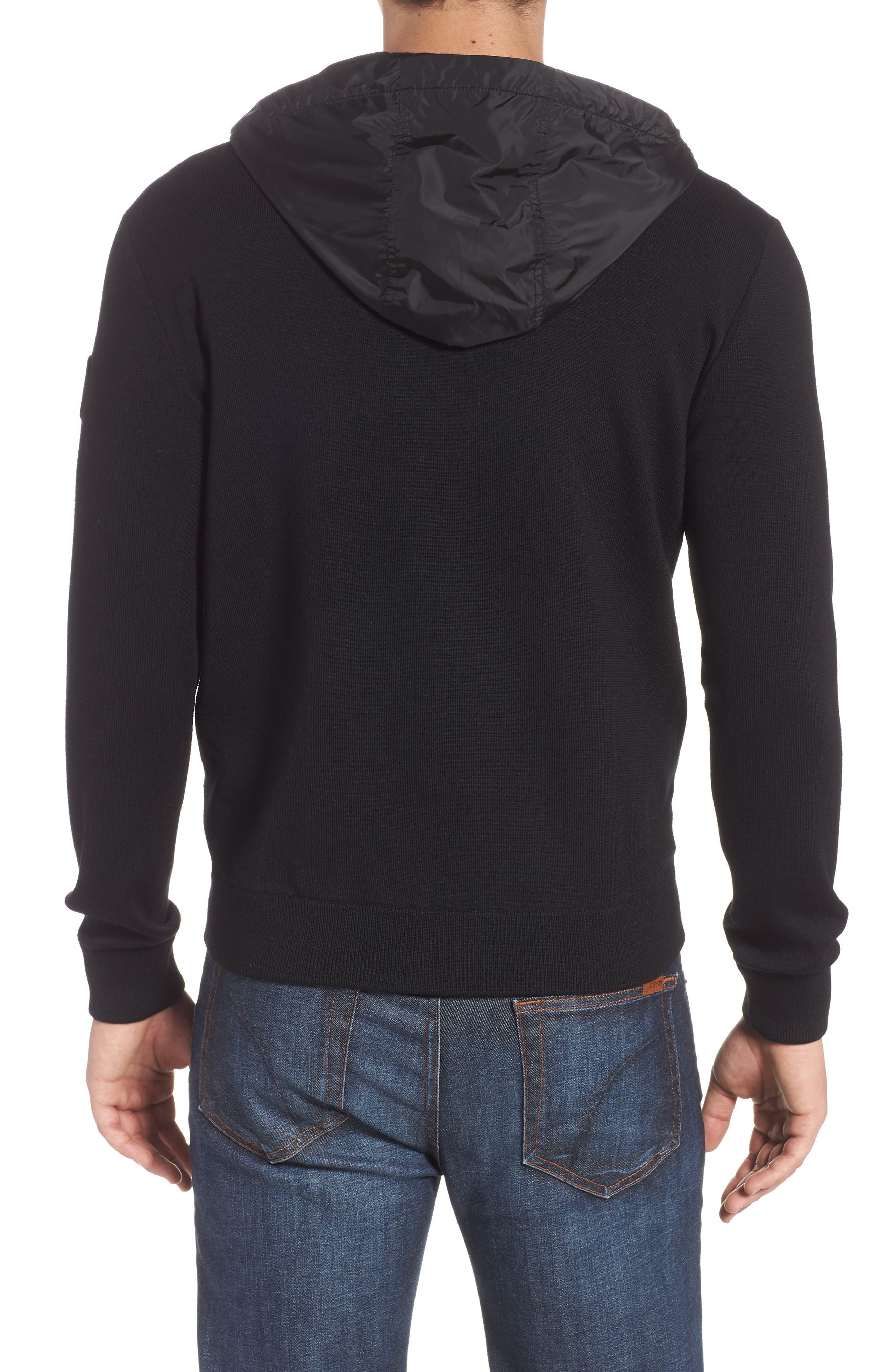 Windbridge Regular Fit Hooded Sweater Jacket,                             Alternate thumbnail 2, color,                             BLACK
