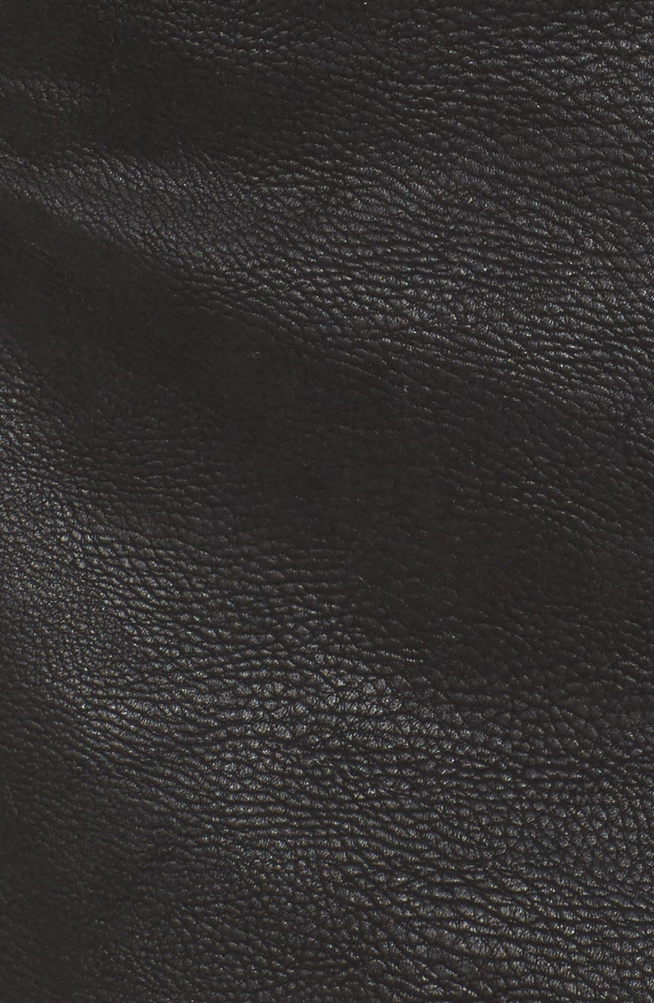 Studded Faux Leather Miniskirt,                             Alternate thumbnail 5, color,                             001