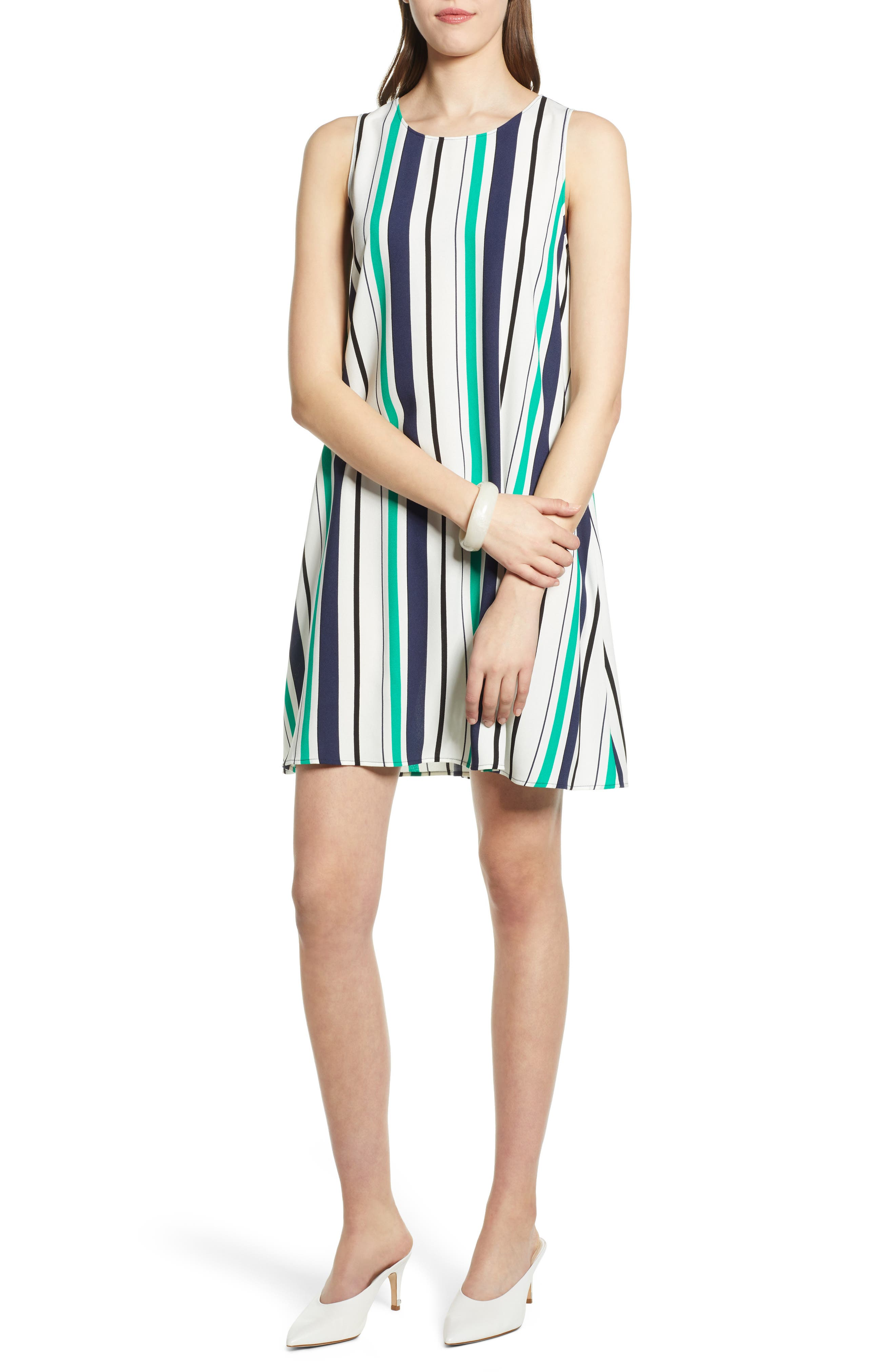 Petite Halogen A-Line Dress, Ivory