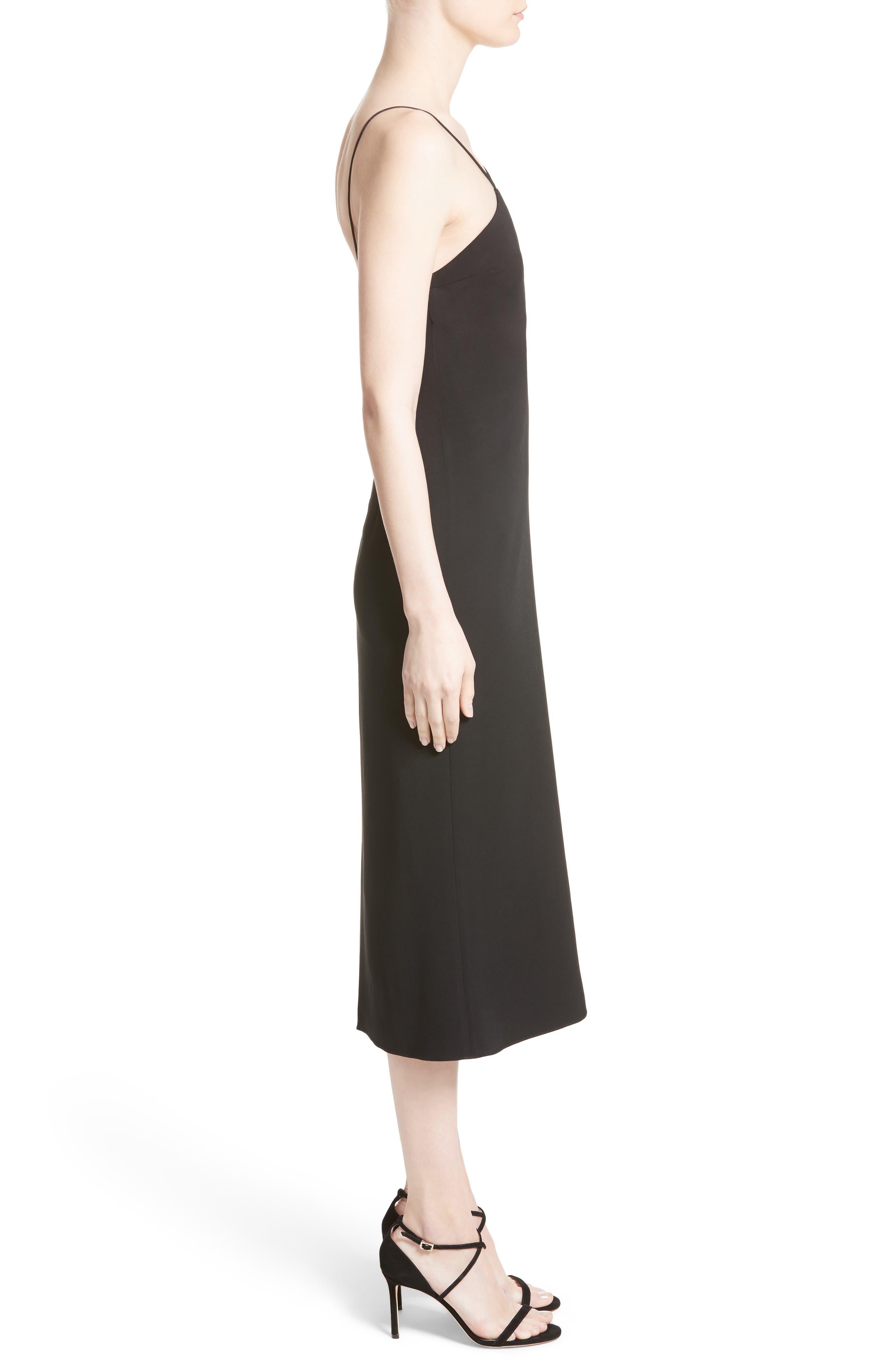 Strappy Pencil Dress,                             Alternate thumbnail 3, color,                             001