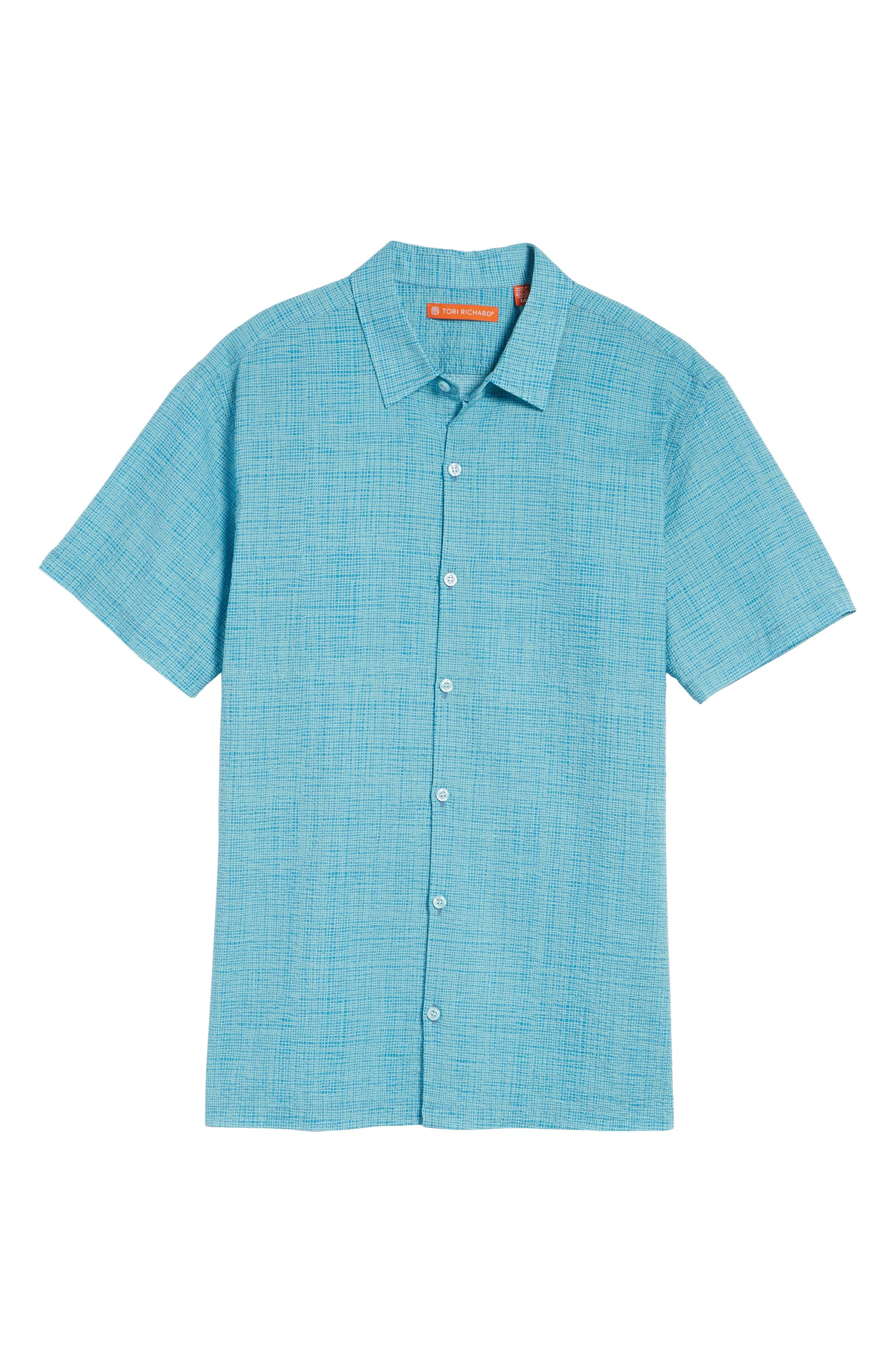 Net Worth Slim Fit Camp Shirt,                             Alternate thumbnail 6, color,                             400