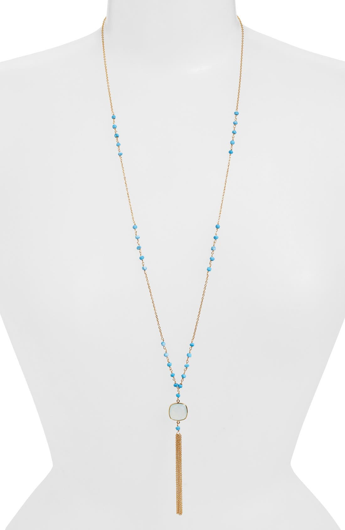 ARGENTO VIVO Beaded Y-Necklace, Main, color, 710