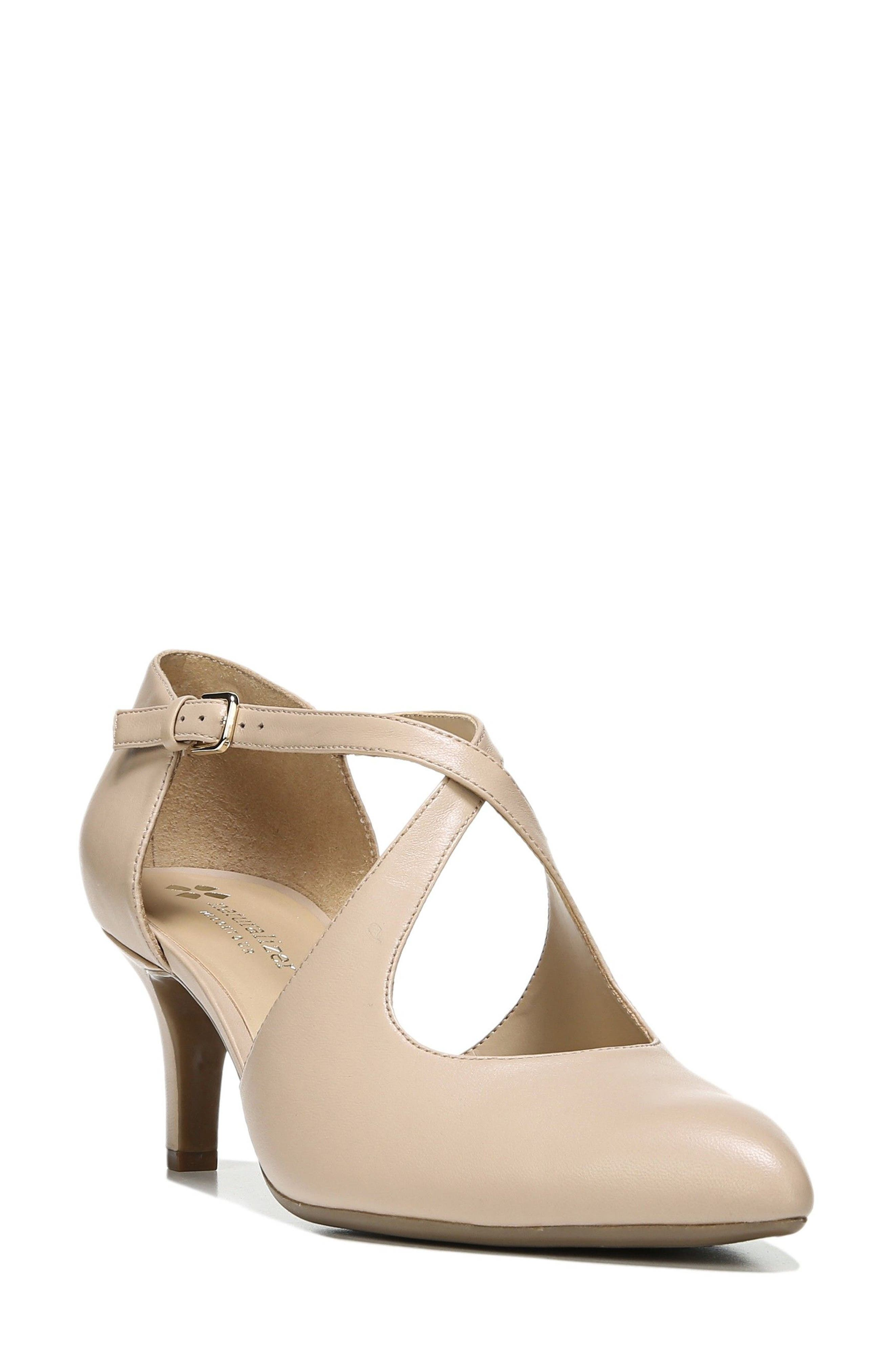 Okira Crisscross Pump,                         Main,                         color, TAUPE LEATHER