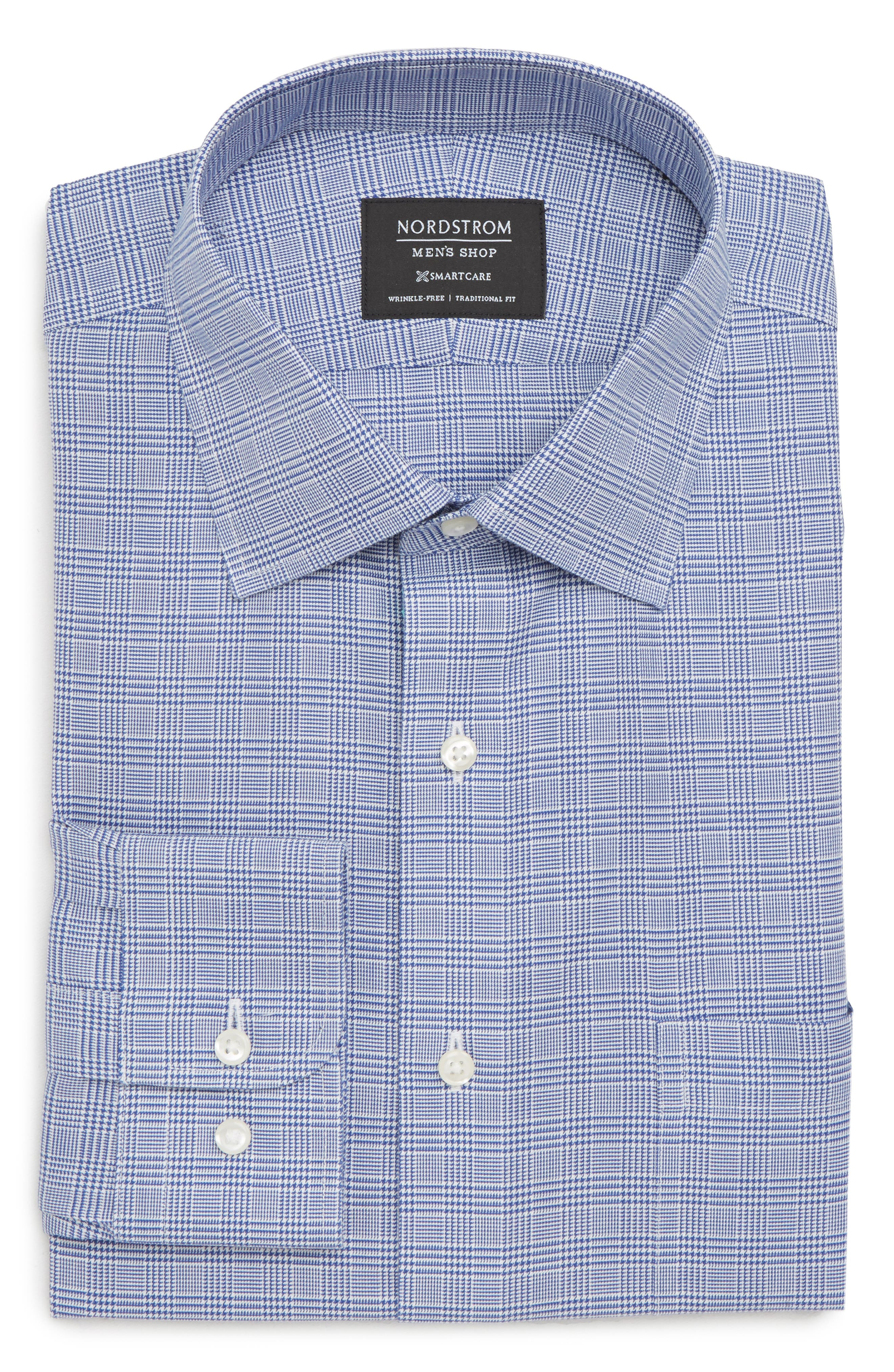 Smartcare<sup>™</sup> Traditional Fit Herringbone Dress Shirt,                         Main,                         color, 420