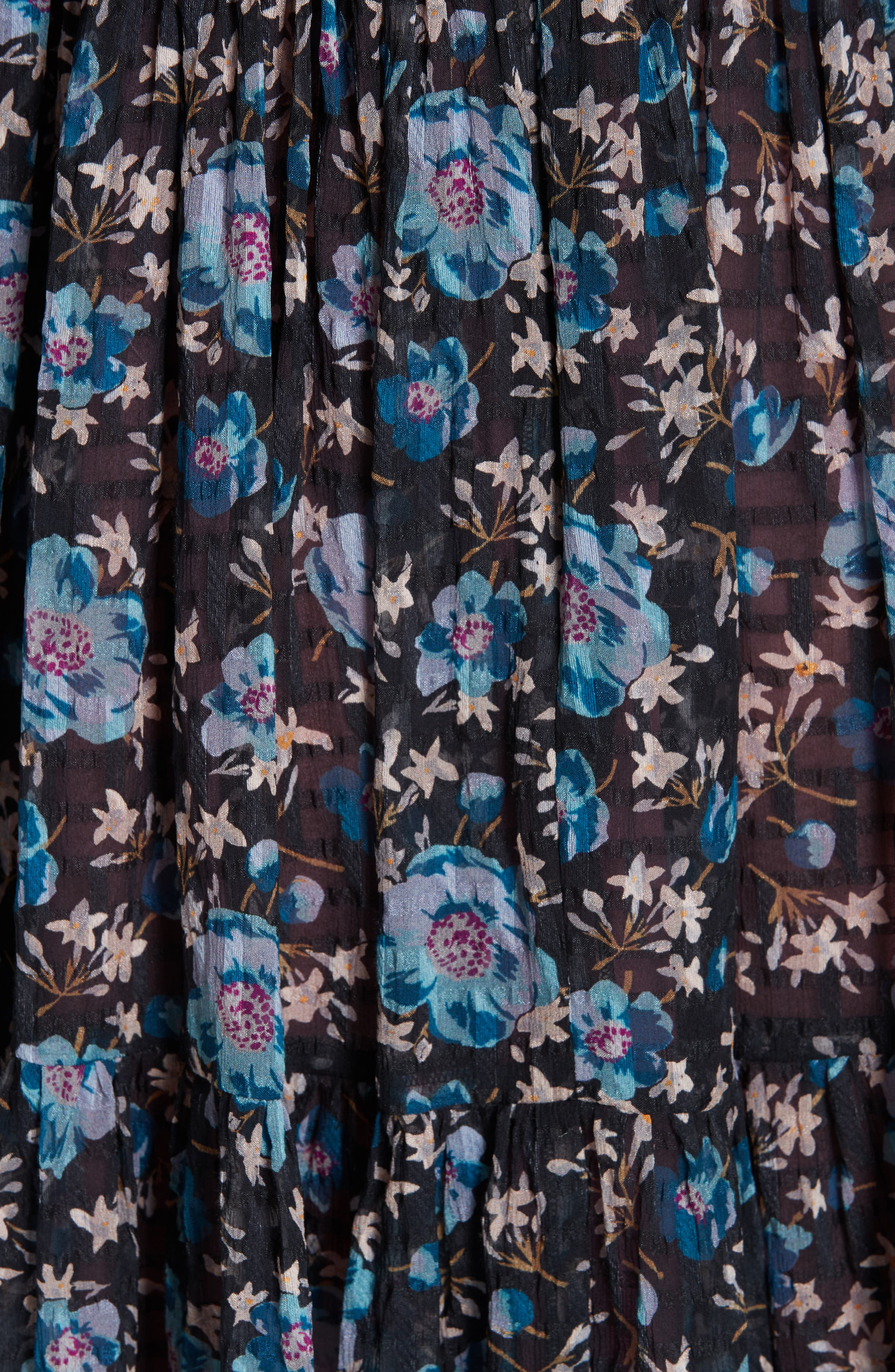 Solstice Silk Blend Dress,                             Alternate thumbnail 5, color,                             014