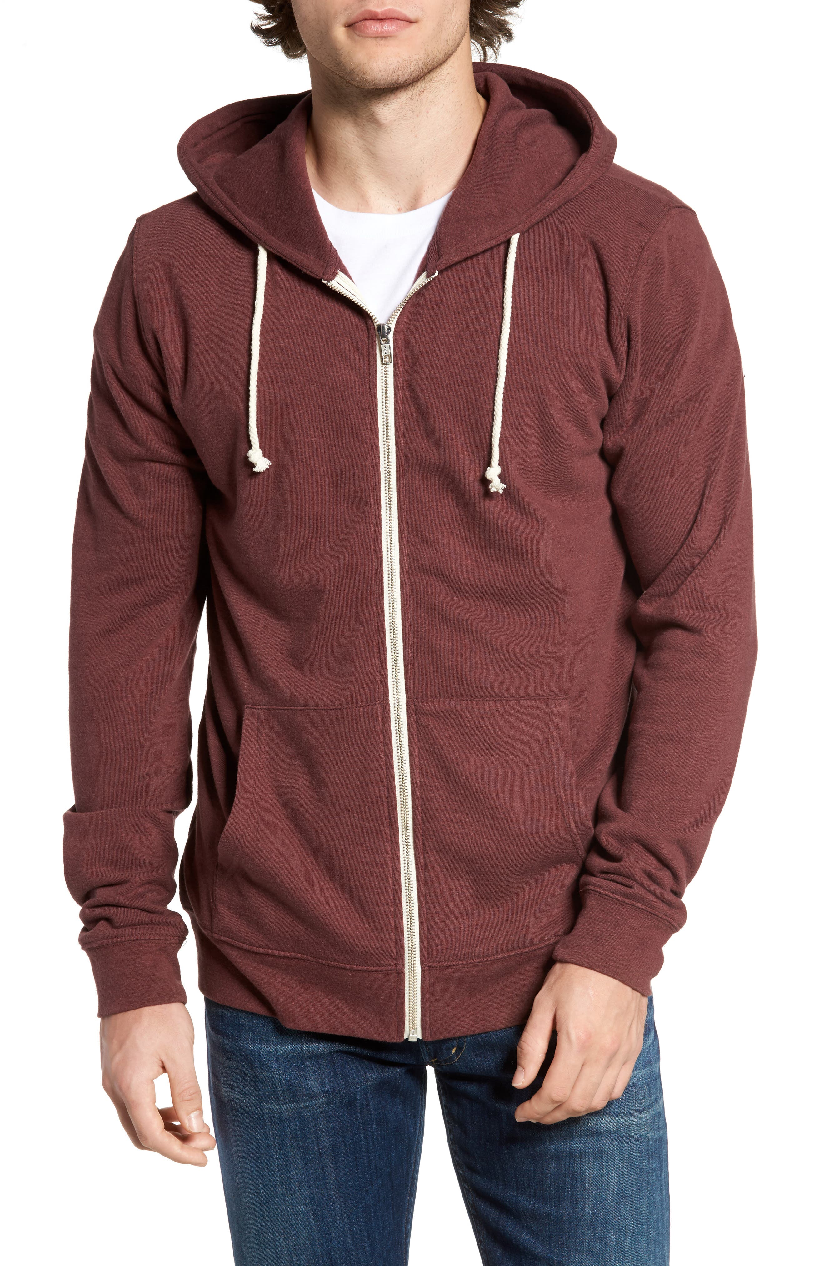 Threads for Thought Trim Fit Heathered Hoodie,                             Main thumbnail 28, color,