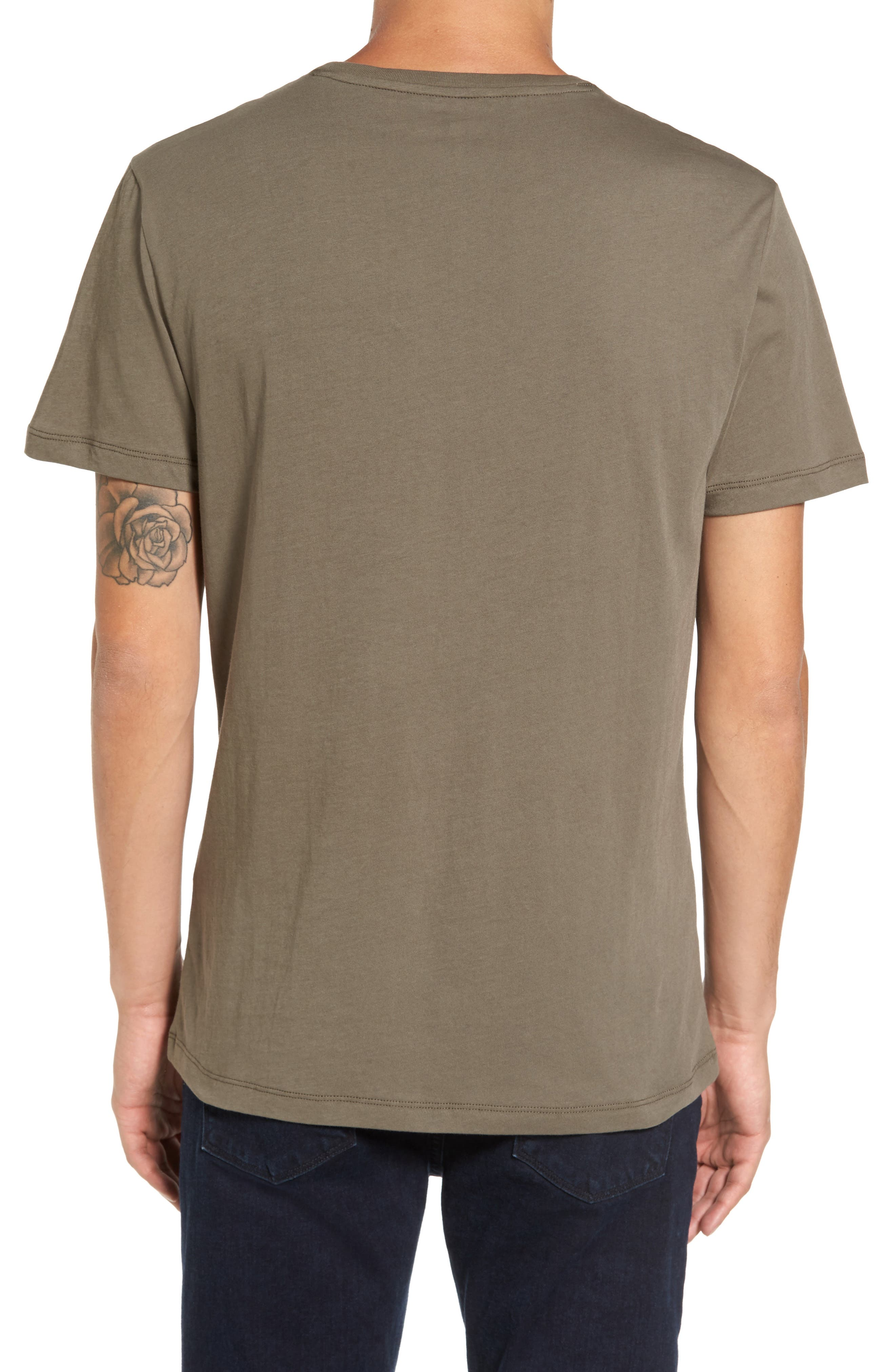 Solid T-Shirt,                             Alternate thumbnail 5, color,