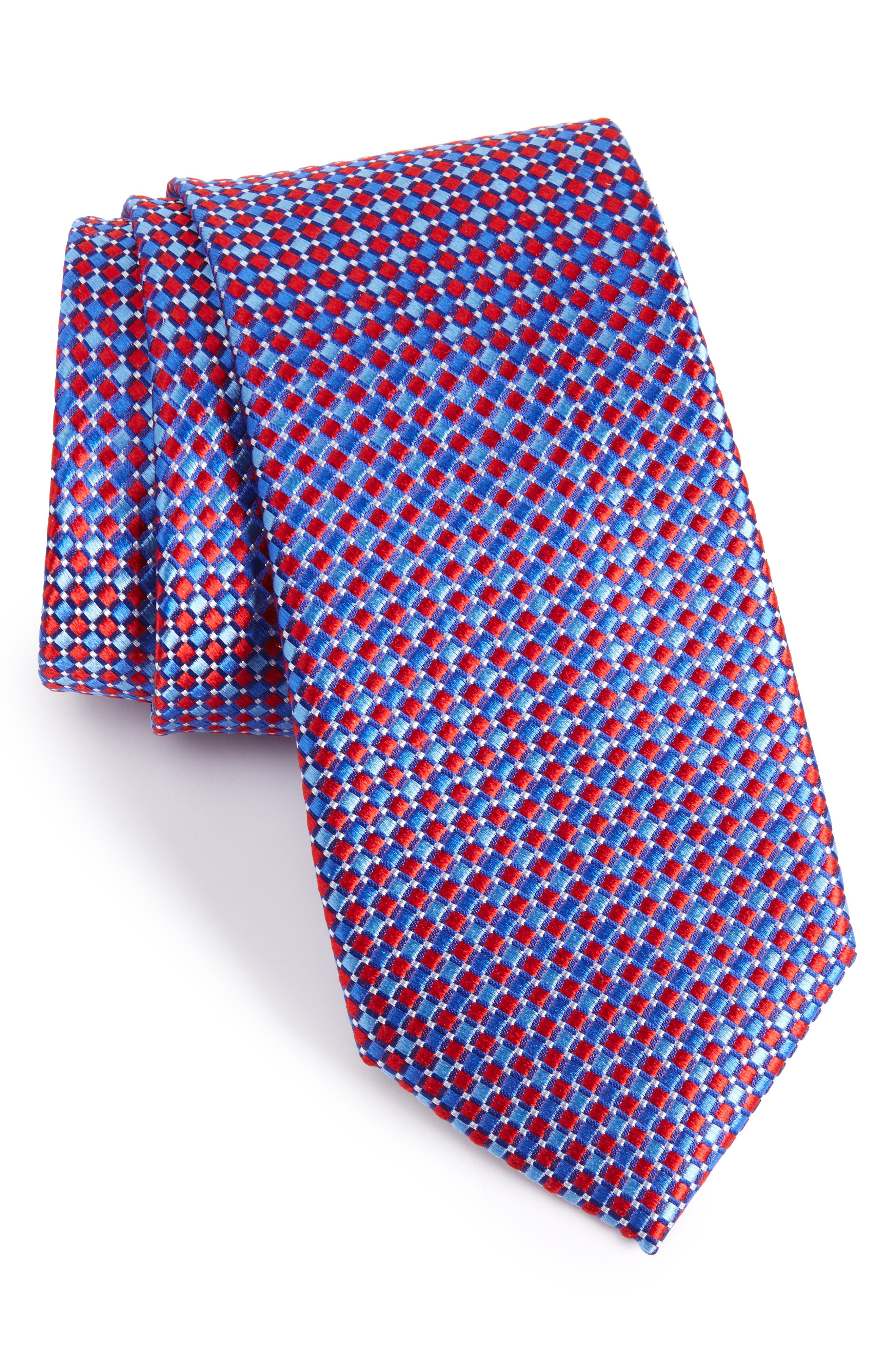 Geo Pattern Silk Tie,                             Main thumbnail 7, color,