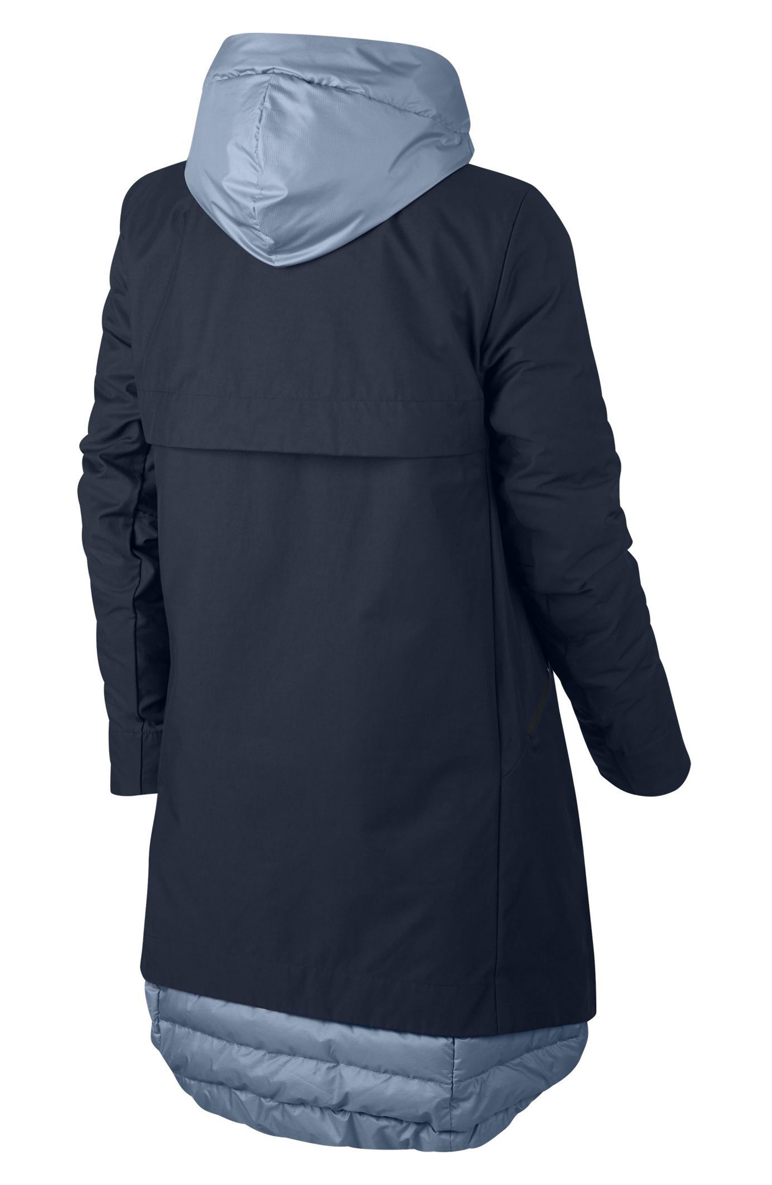 Sportswear Women's AeroLoft 3-in-1 Down Fill Parka,                             Alternate thumbnail 2, color,                             OBSIDIAN/ GLACIER GREY/ BLACK