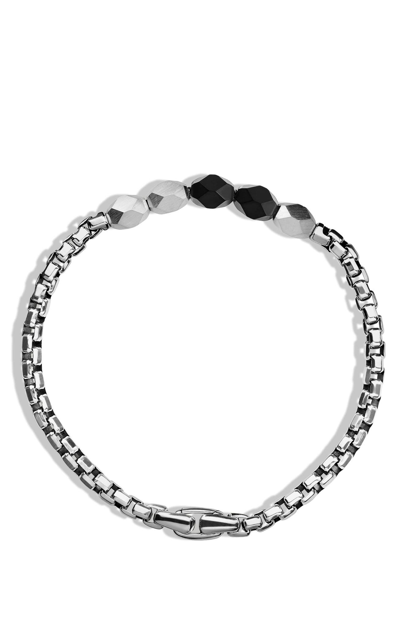 'Faceted' Metal Bracelet,                             Alternate thumbnail 3, color,                             002