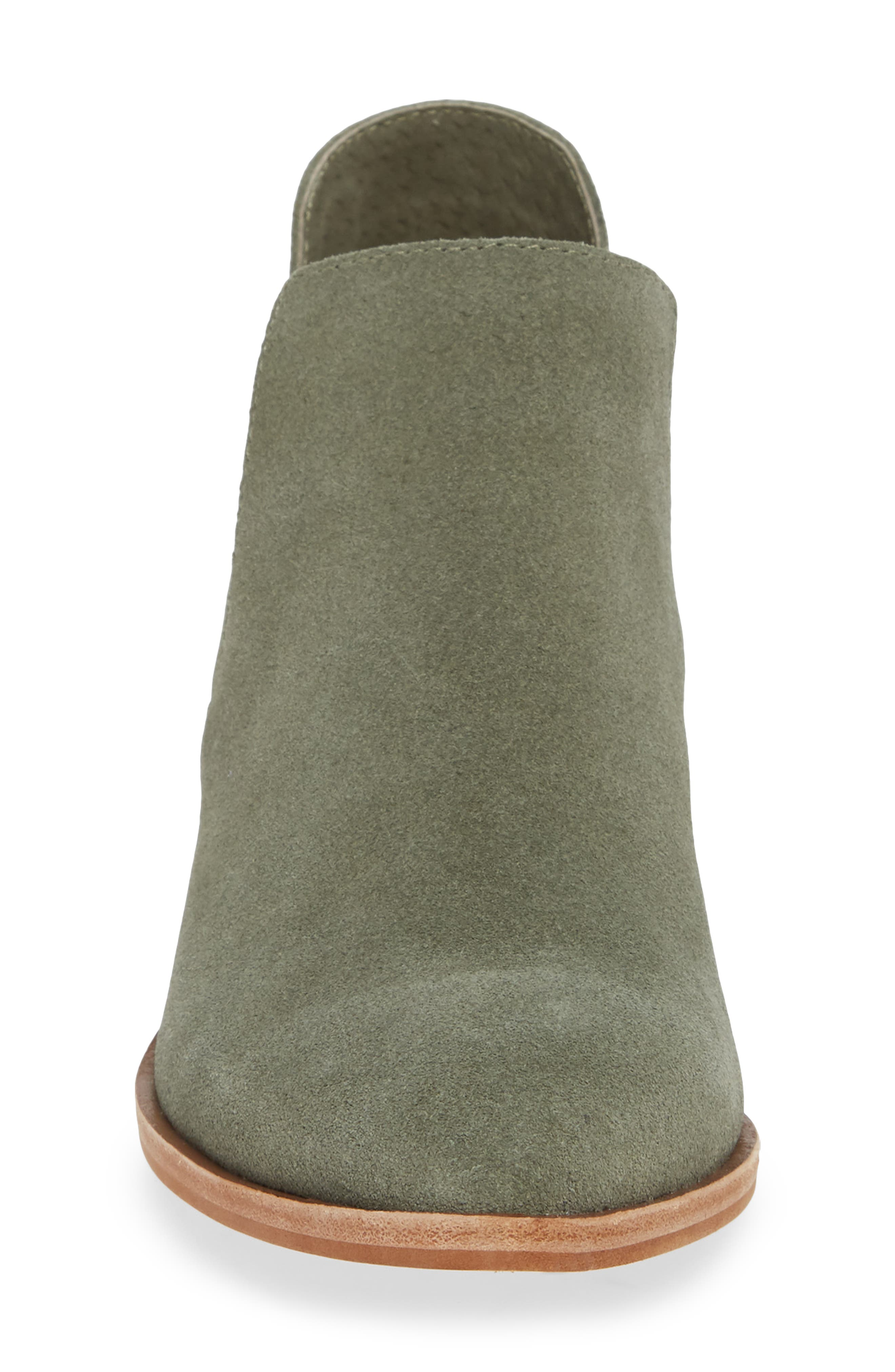 Focus Open Sided Bootie,                             Alternate thumbnail 4, color,                             OLIVE SUEDE