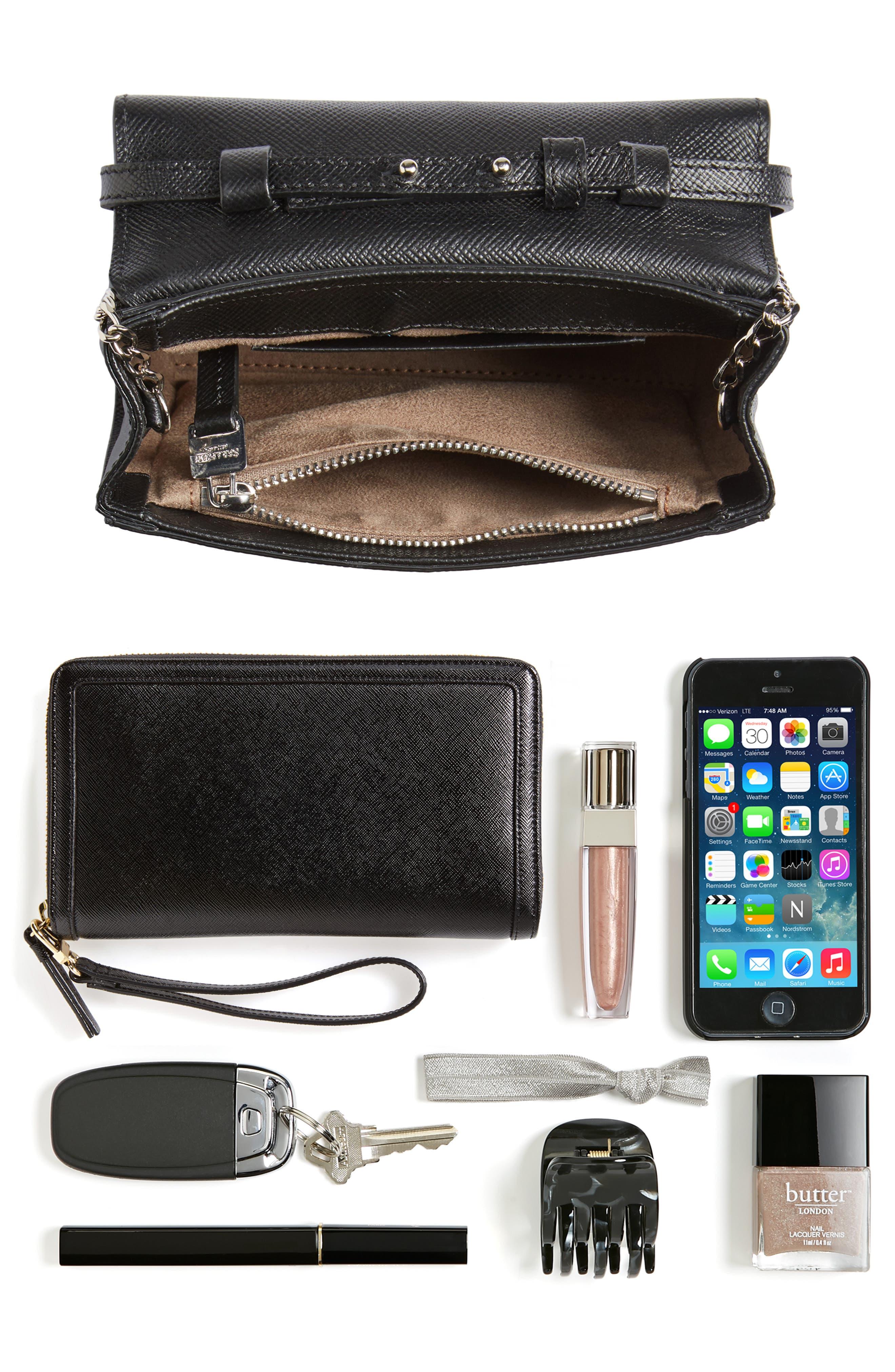 Mini Ilenea Leather Crossbody Bag,                             Alternate thumbnail 8, color,                             001