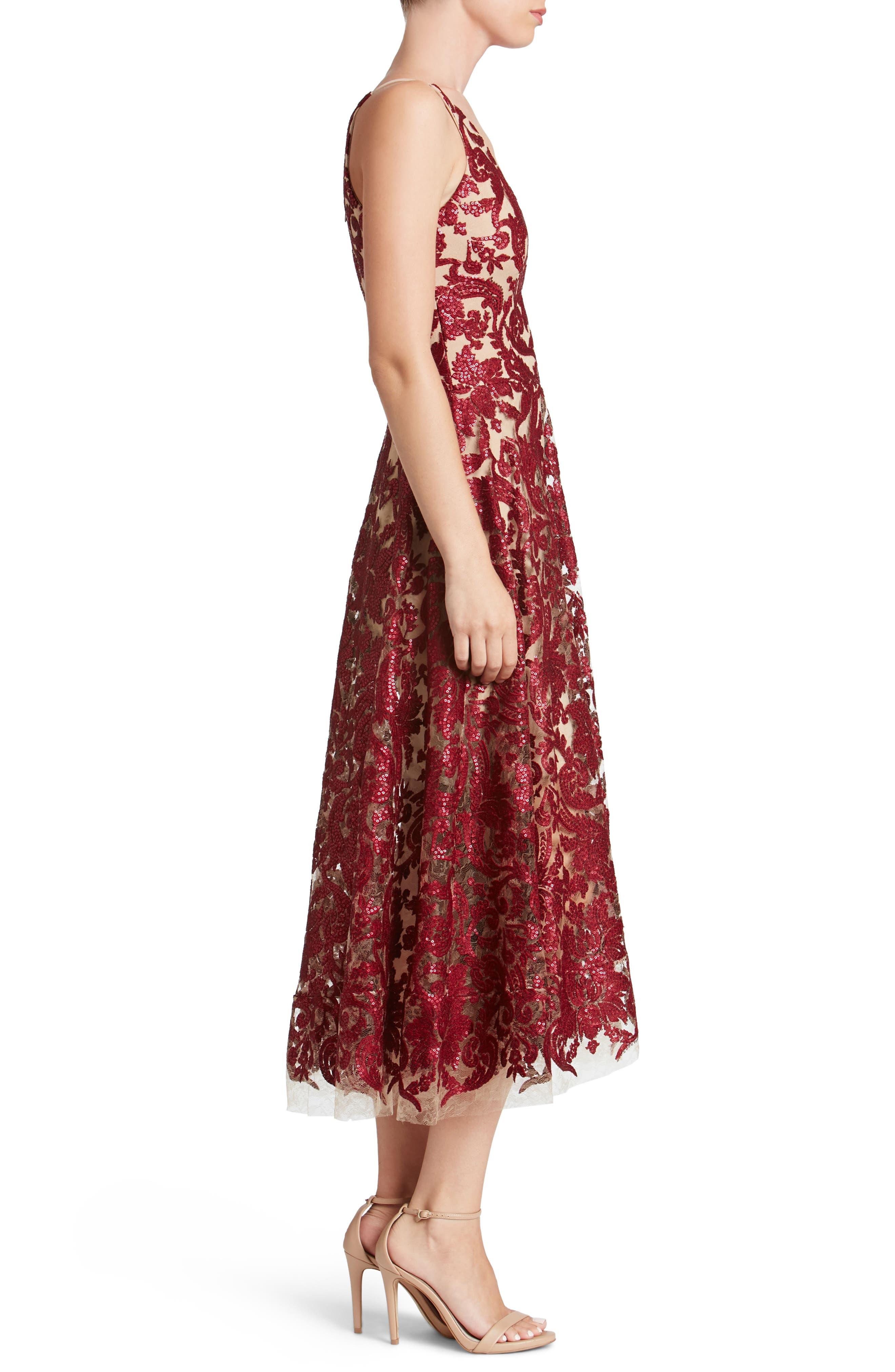 Blair Embellished Fit & Flare Dress,                             Alternate thumbnail 20, color,