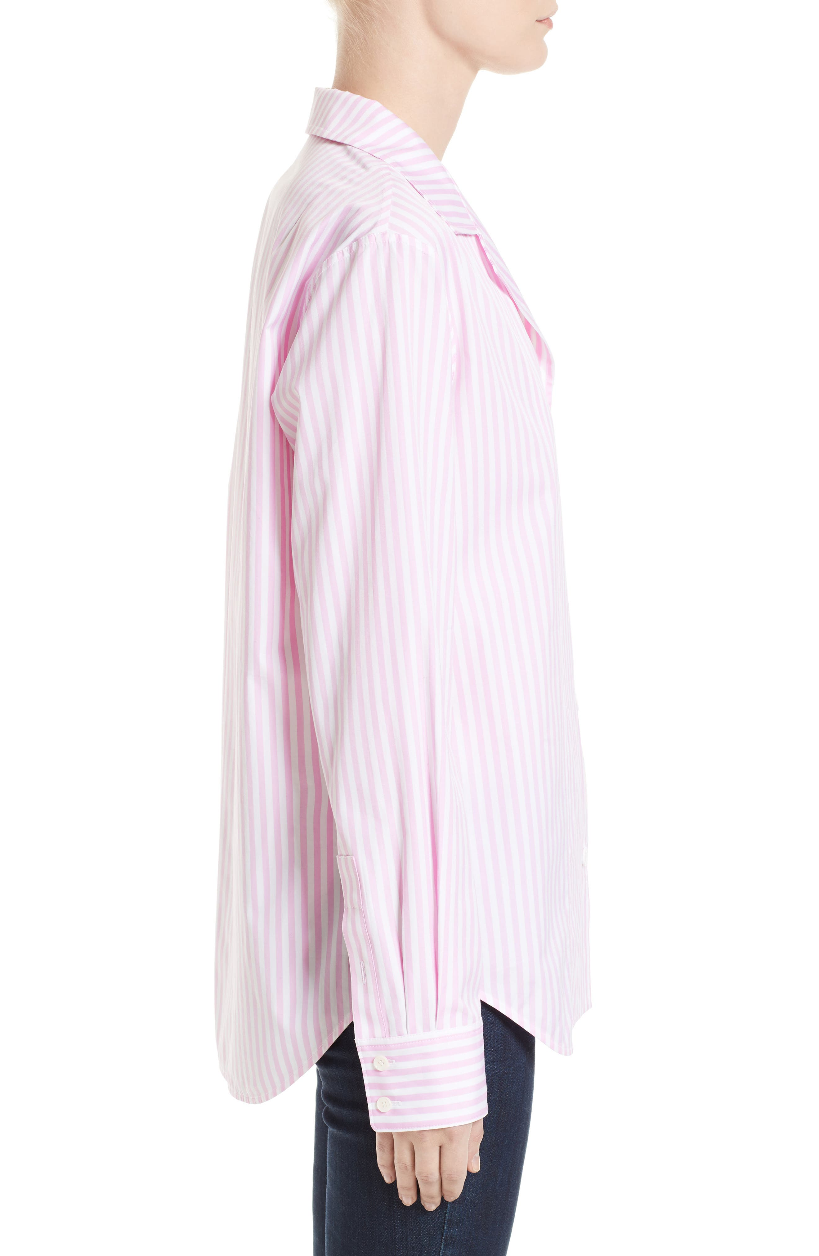 Cotton Grandad Shirt,                             Alternate thumbnail 3, color,                             650