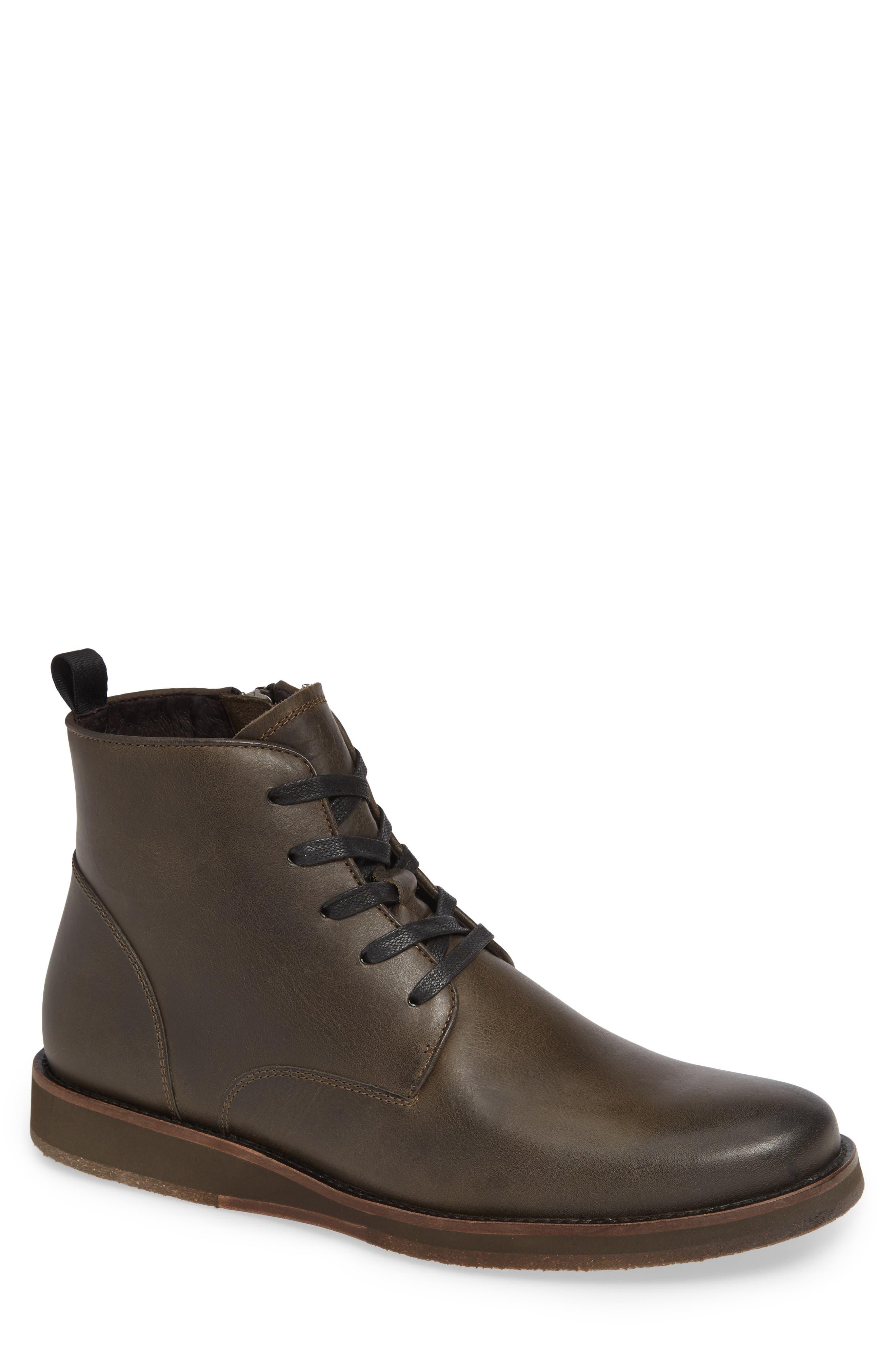 Brooklyn Plain Toe Boot,                         Main,                         color, BLACK LEATHER