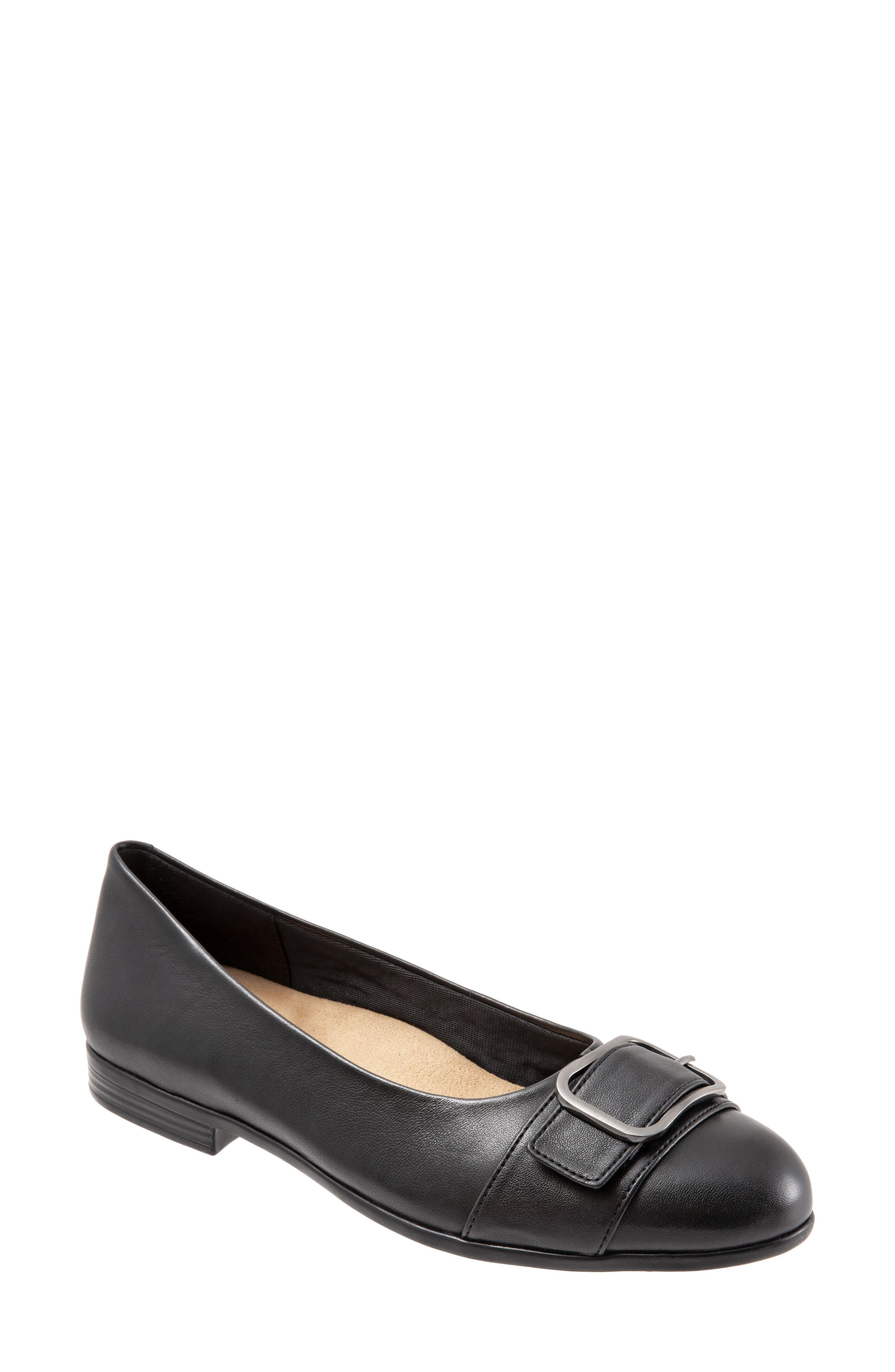 Aubrey Flat, Main, color, BLACK LEATHER