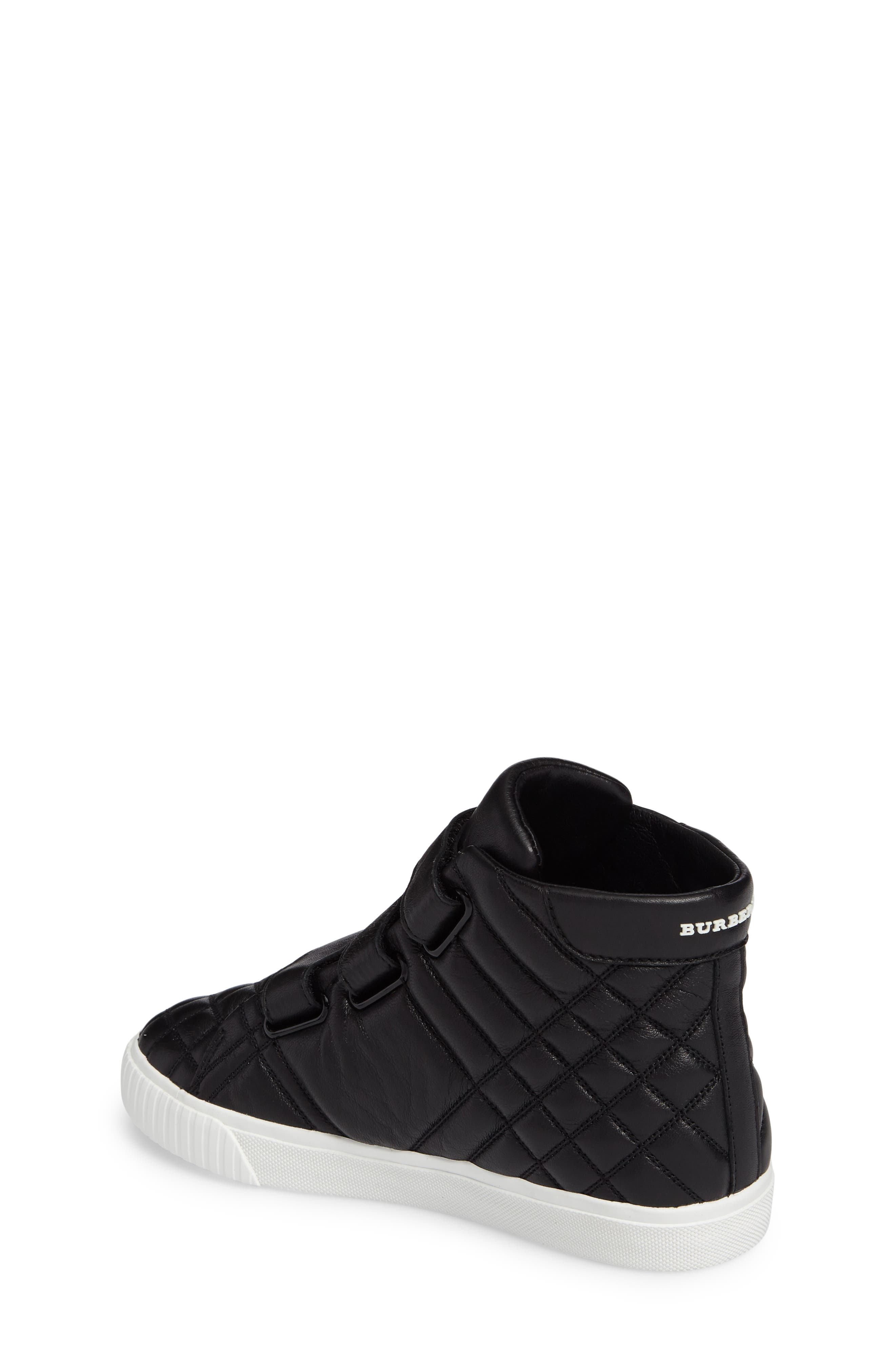 Sturrock Quilted High Top Sneaker,                             Alternate thumbnail 2, color,                             001