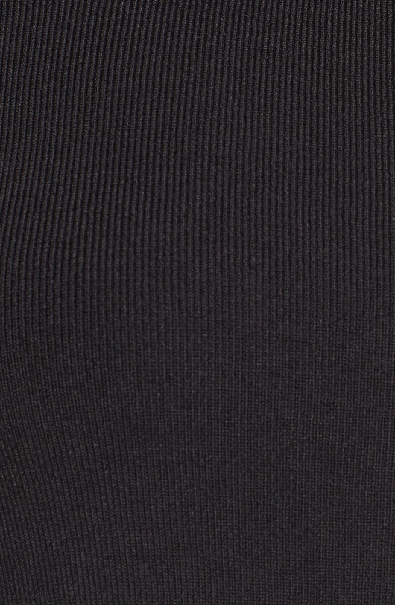 One-Shoulder Midi Dress,                             Alternate thumbnail 5, color,                             004