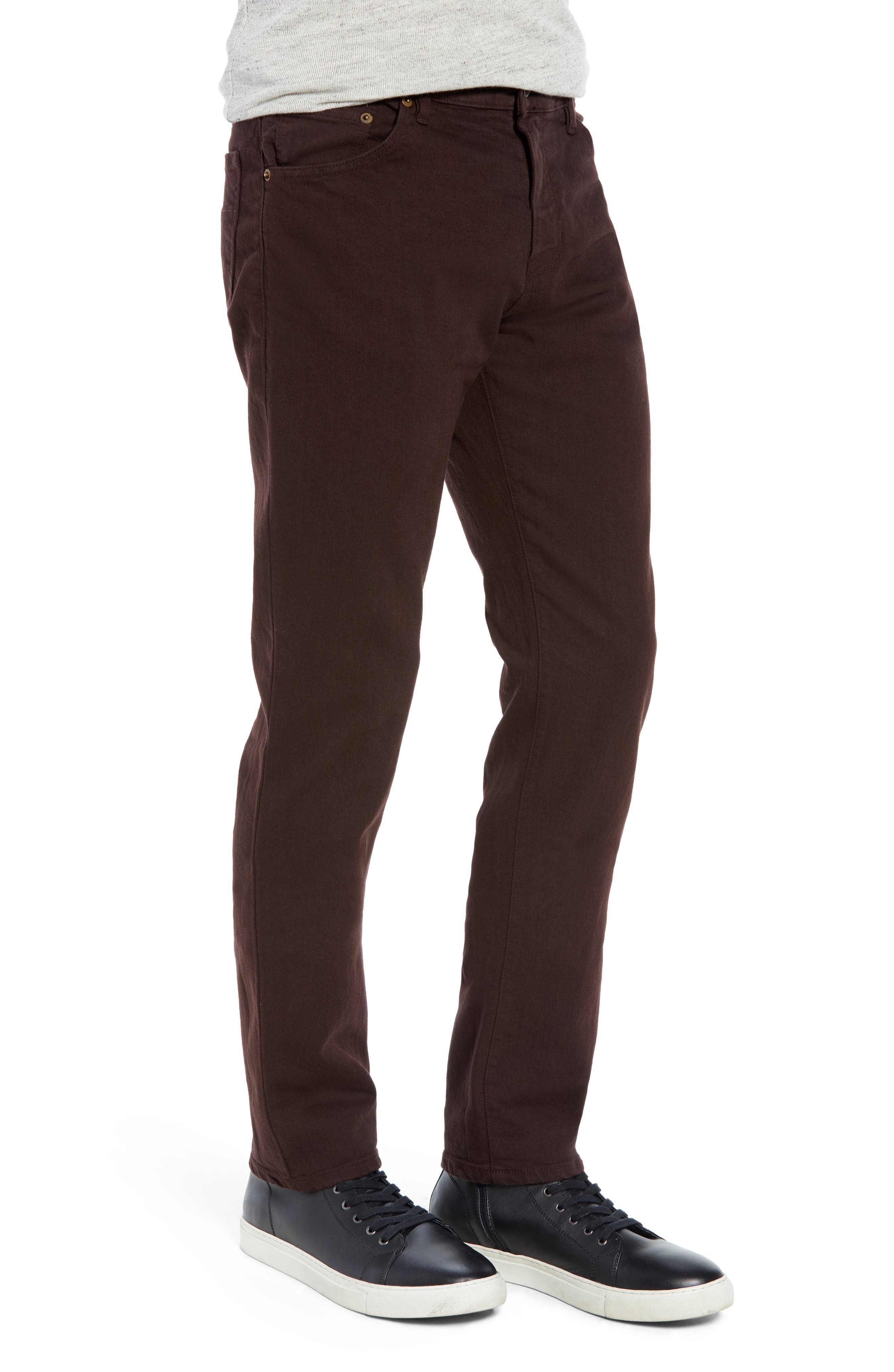 Raleight Denim Martin Skinny Fit Jeans,                             Alternate thumbnail 3, color,                             CURRANT