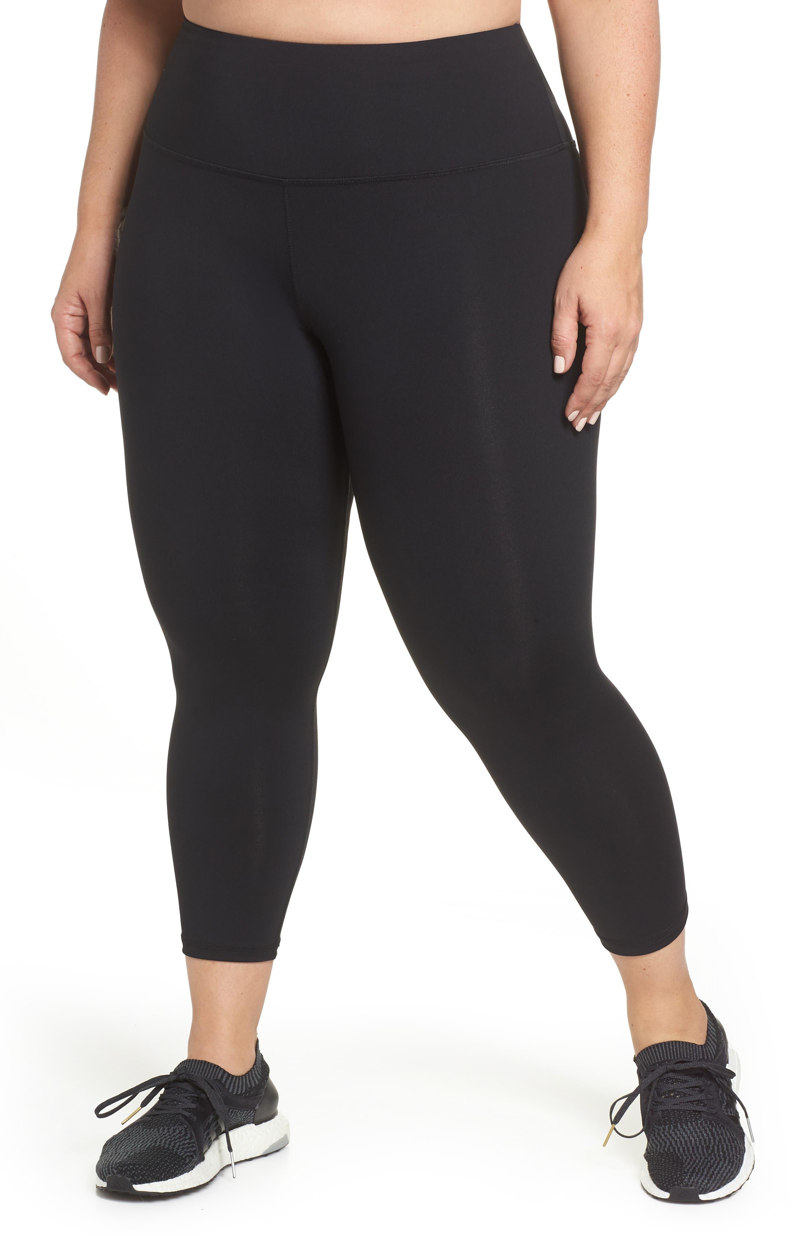 Plus Size Lola Getts Lola High Waist Skinny Capri Leggings, Black