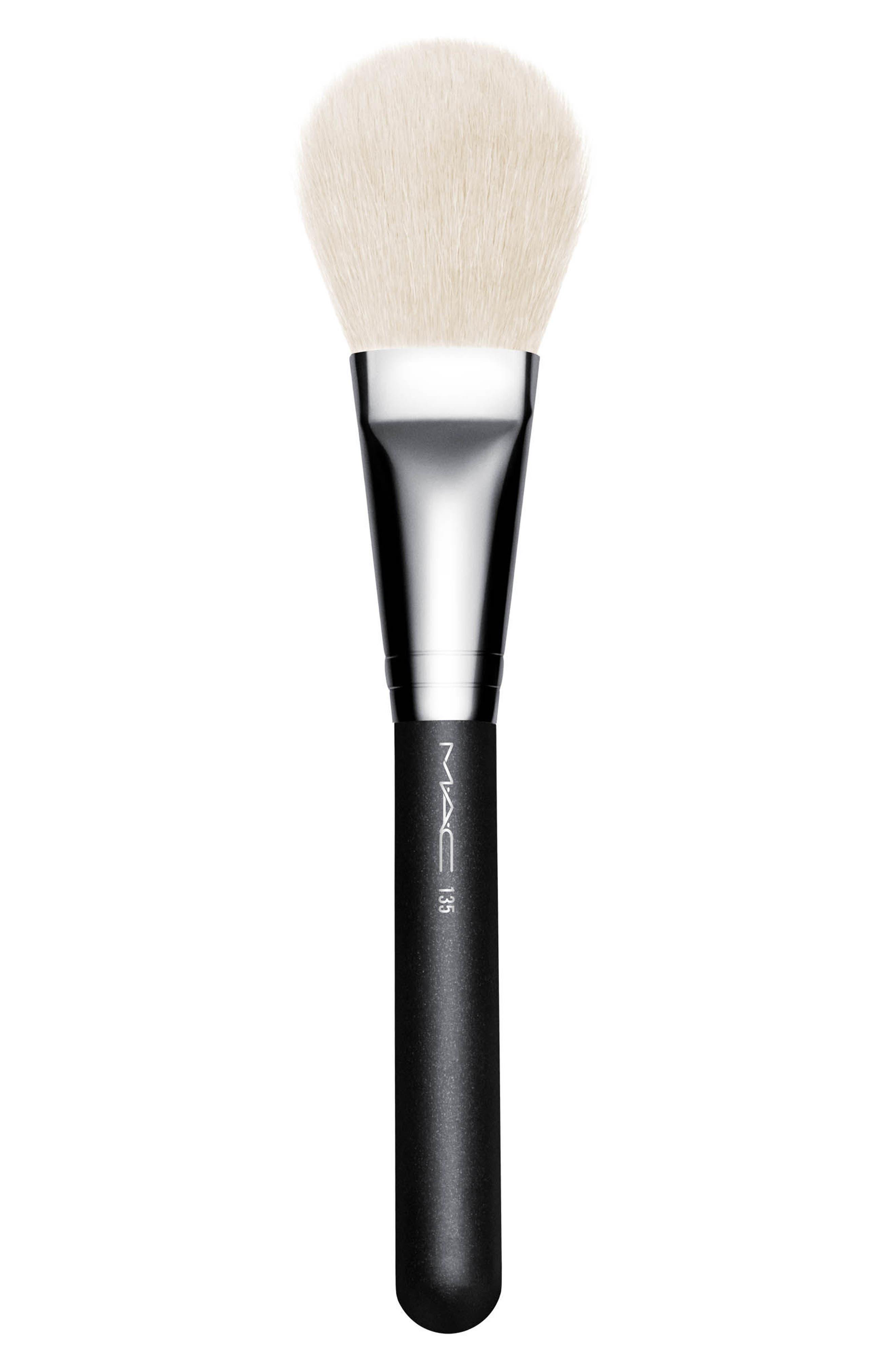 MAC 135 Large Flat Powder Brush,                             Main thumbnail 1, color,                             000