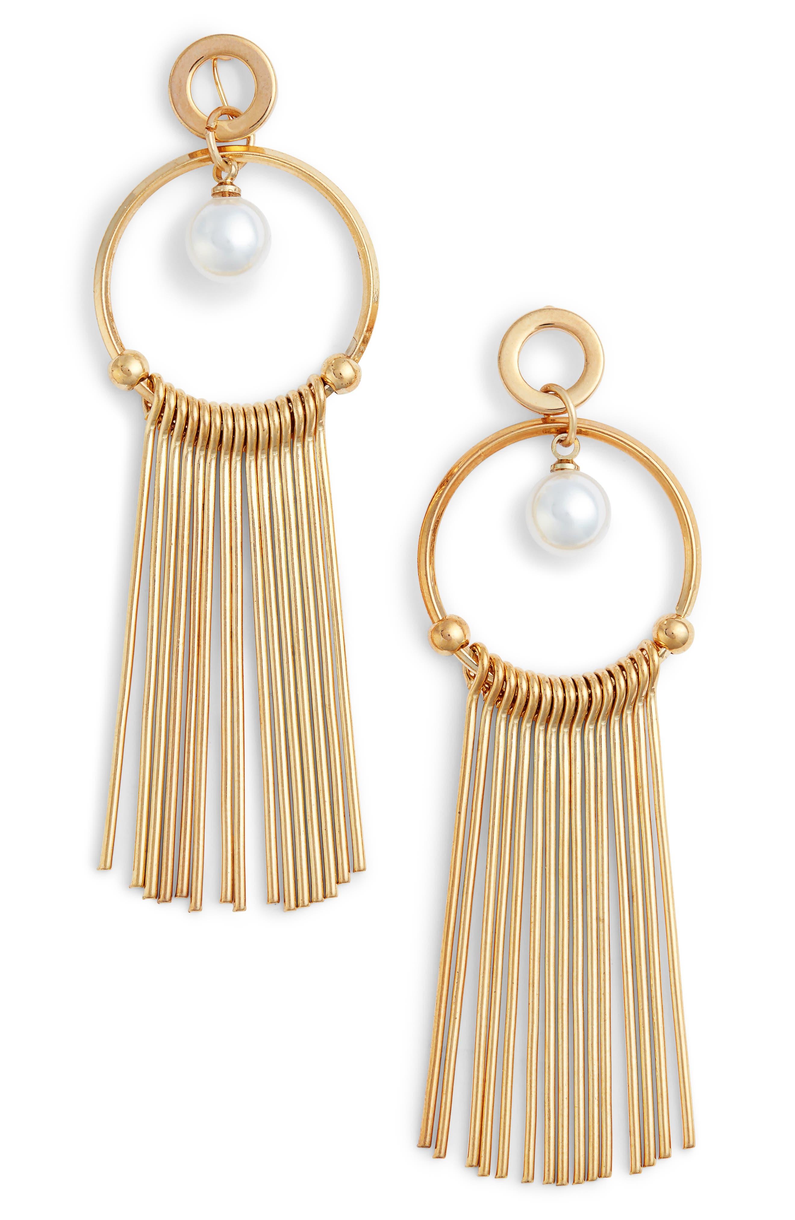 Lilia Spike & Crystal Hoop Earrings,                             Main thumbnail 4, color,
