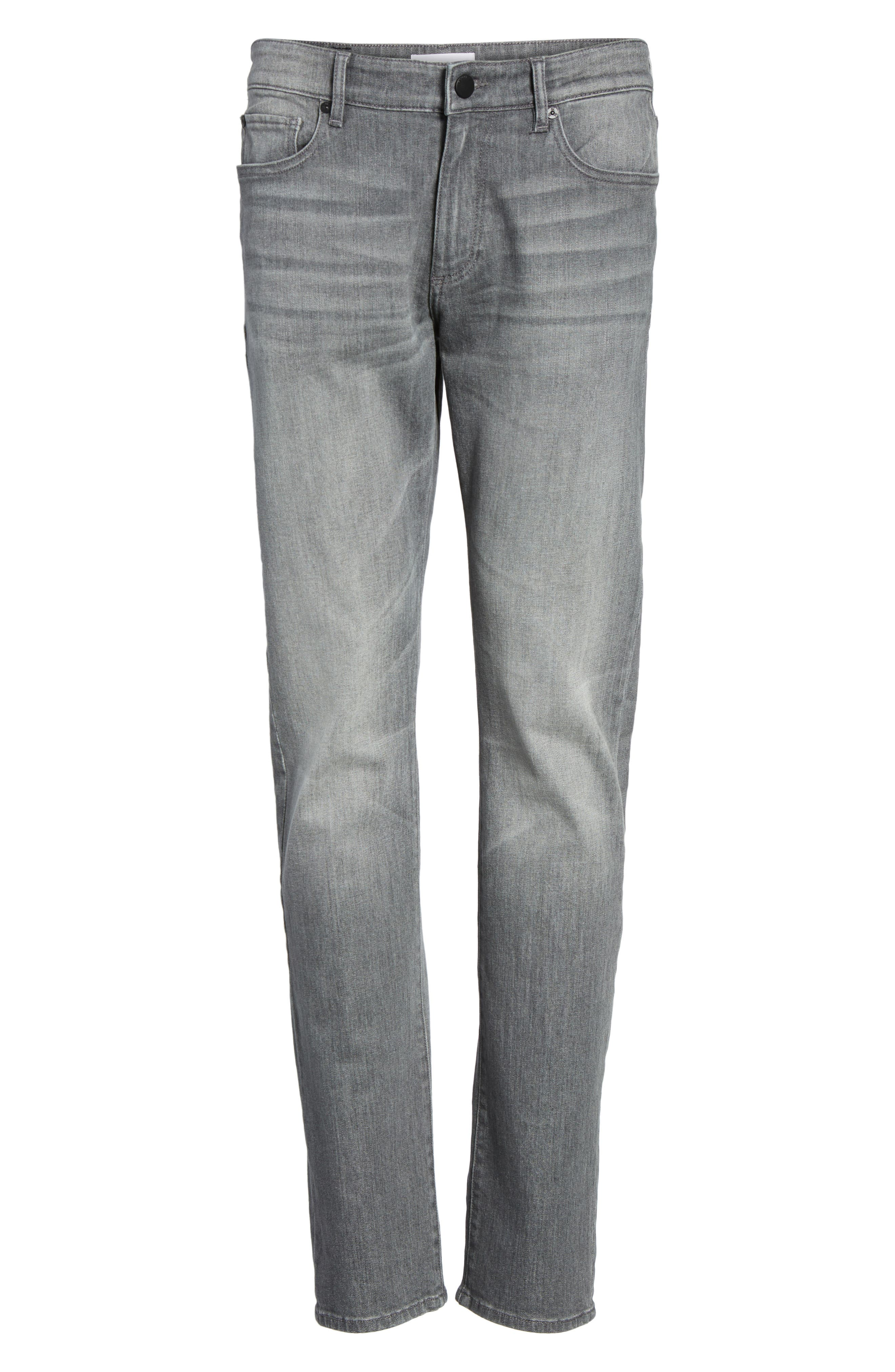 Russell Slim Straight Fit Jeans,                             Alternate thumbnail 6, color,                             020