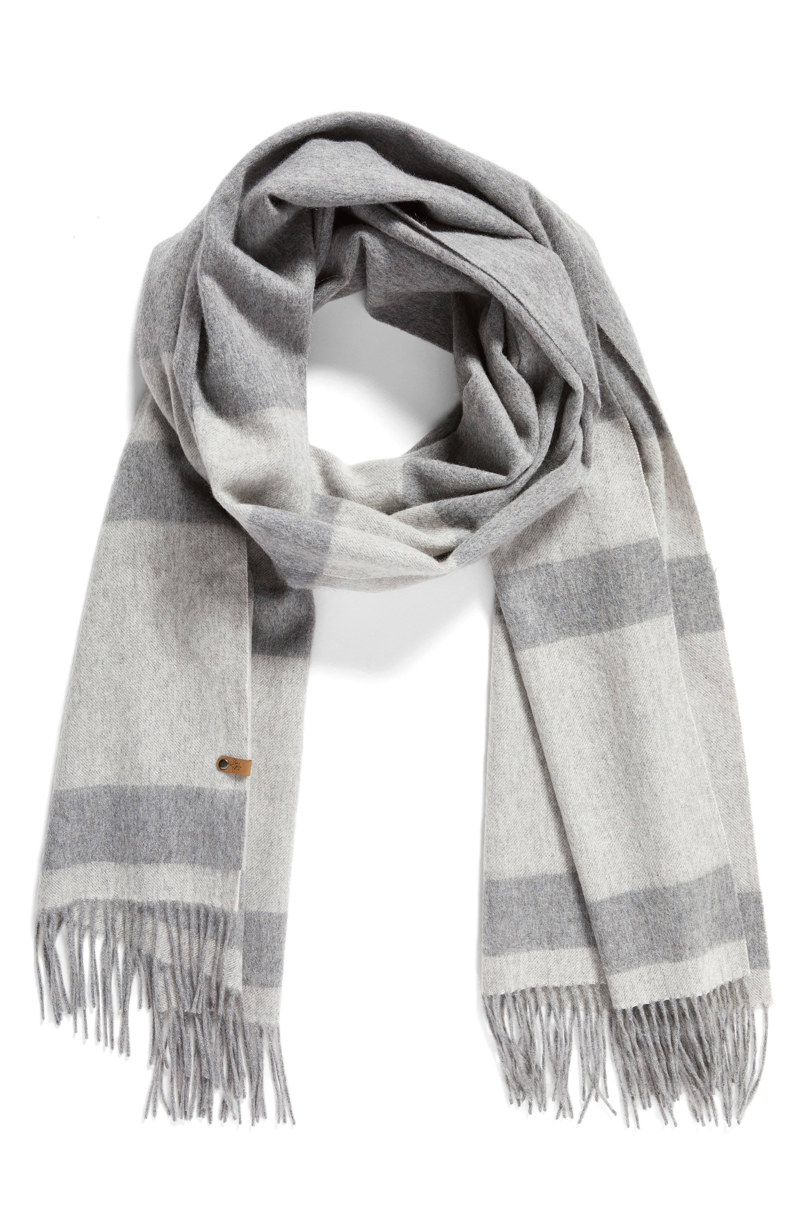 Lazio Stripe Wool Scarf,                             Alternate thumbnail 2, color,                             020