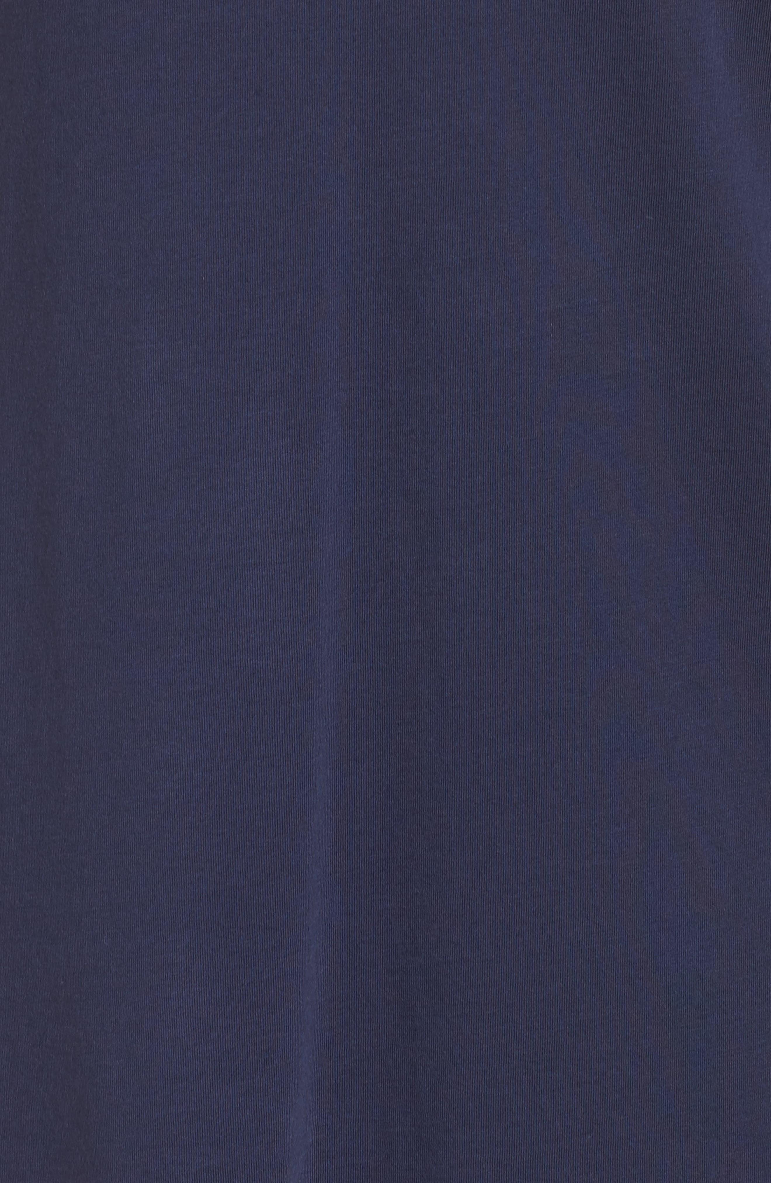 'Brewster' Contrast Trim T-Shirt Dress,                             Alternate thumbnail 5, color,                             TRUE NAVY