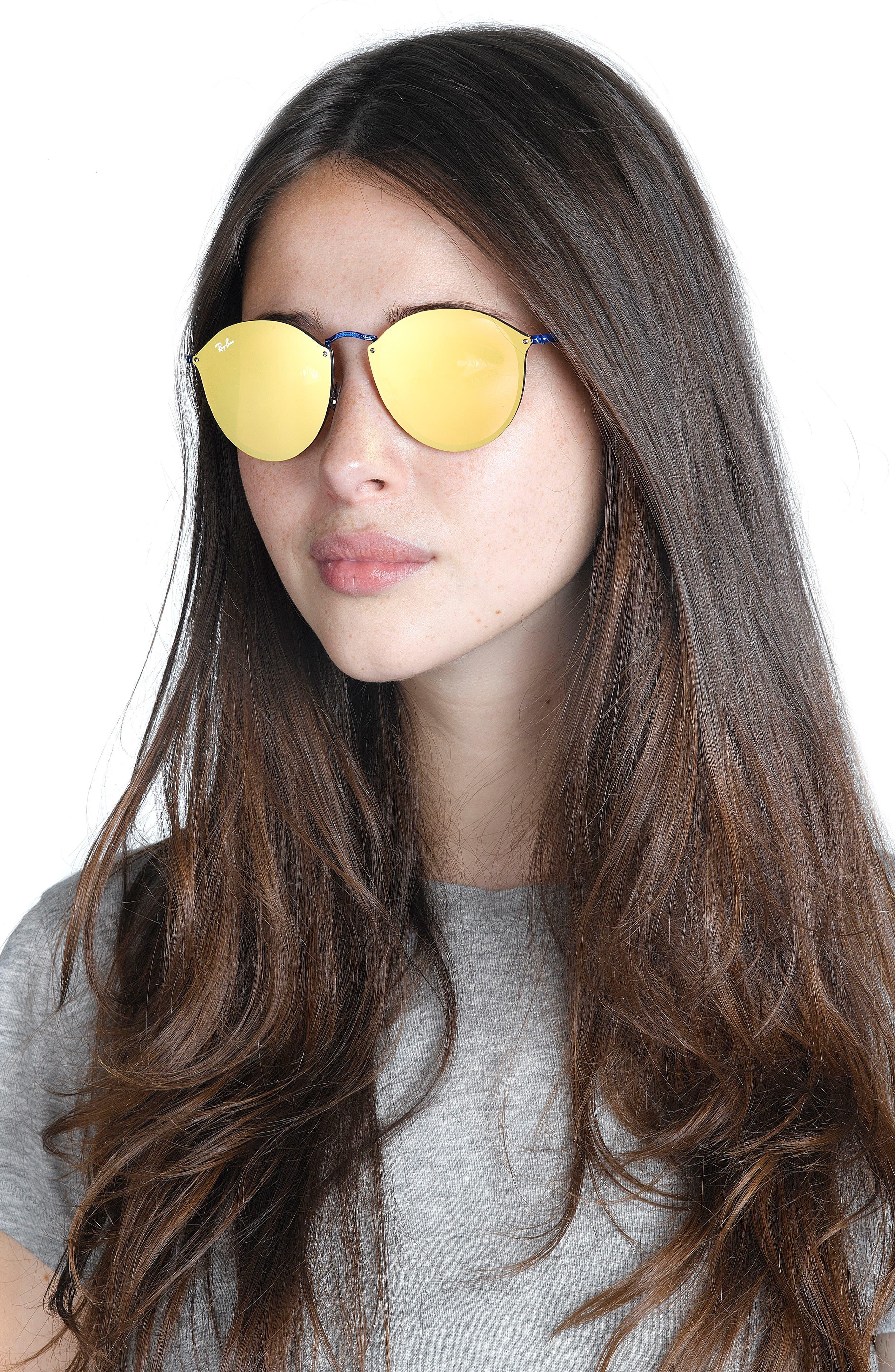 59mm Blaze Round Mirrored Sunglasses,                             Alternate thumbnail 11, color,