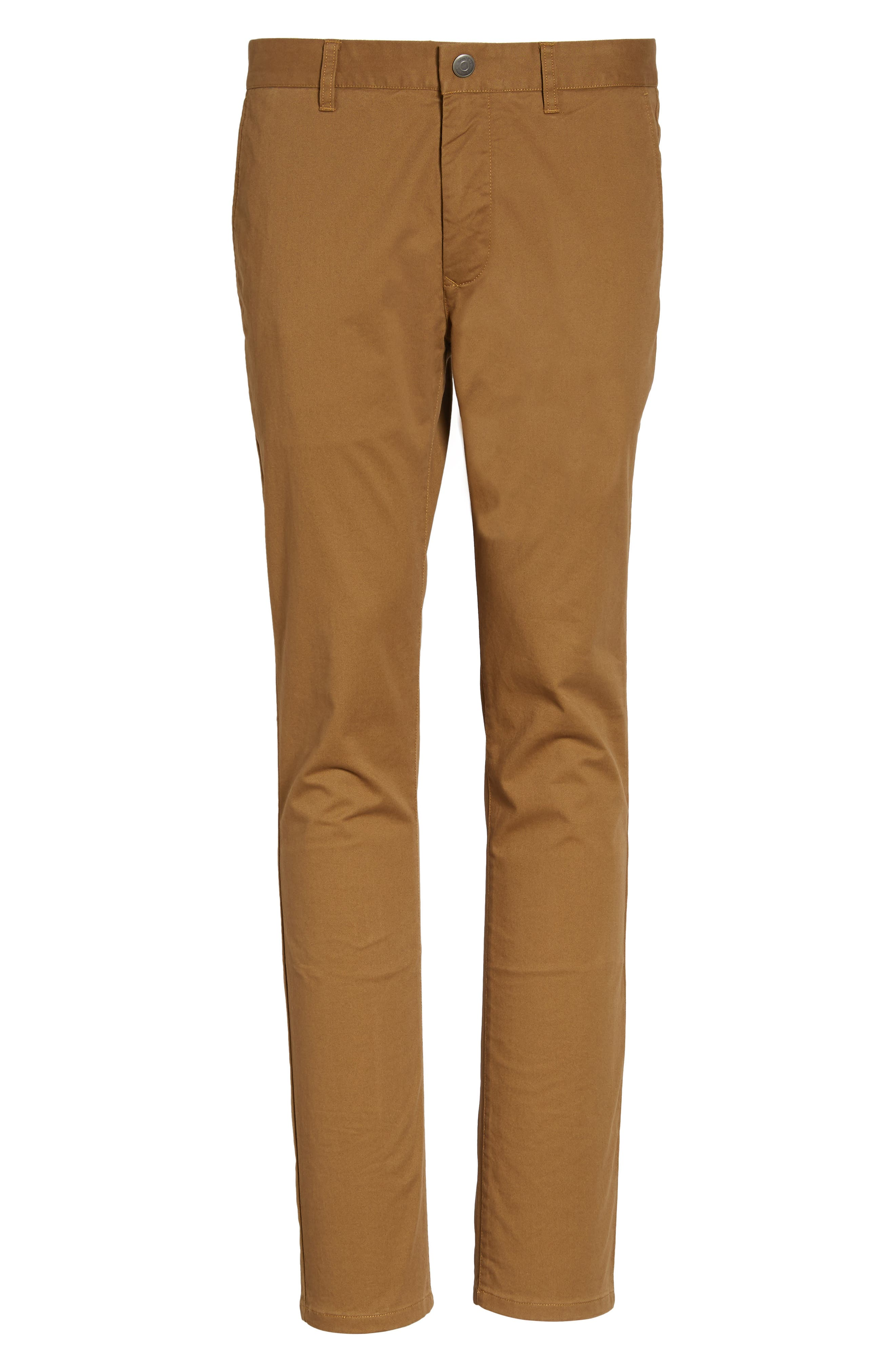 Tailored Fit Washed Stretch Cotton Chinos,                             Alternate thumbnail 179, color,