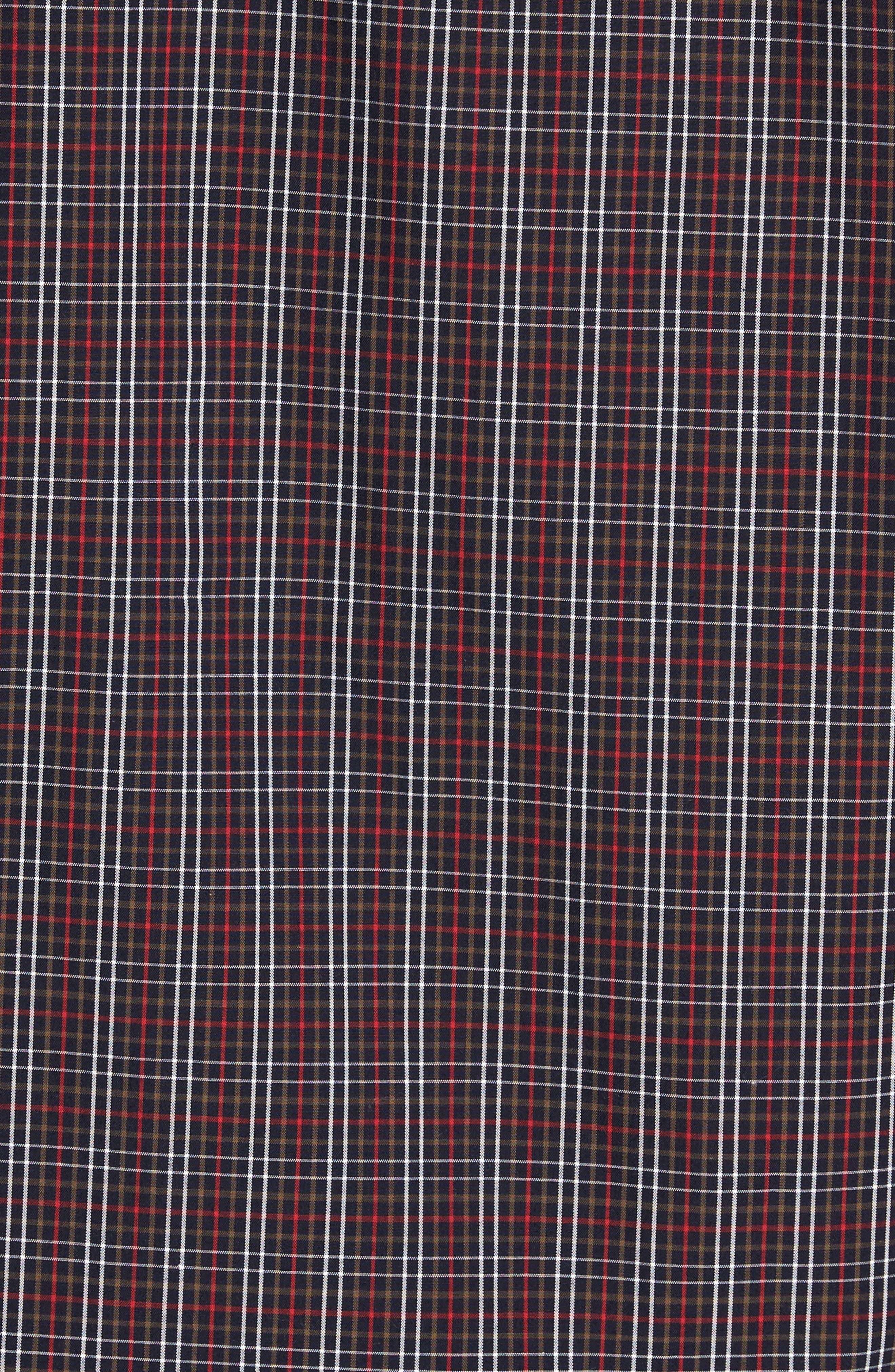 Cavanah Non-Iron Plaid Sport Shirt,                             Alternate thumbnail 5, color,                             493