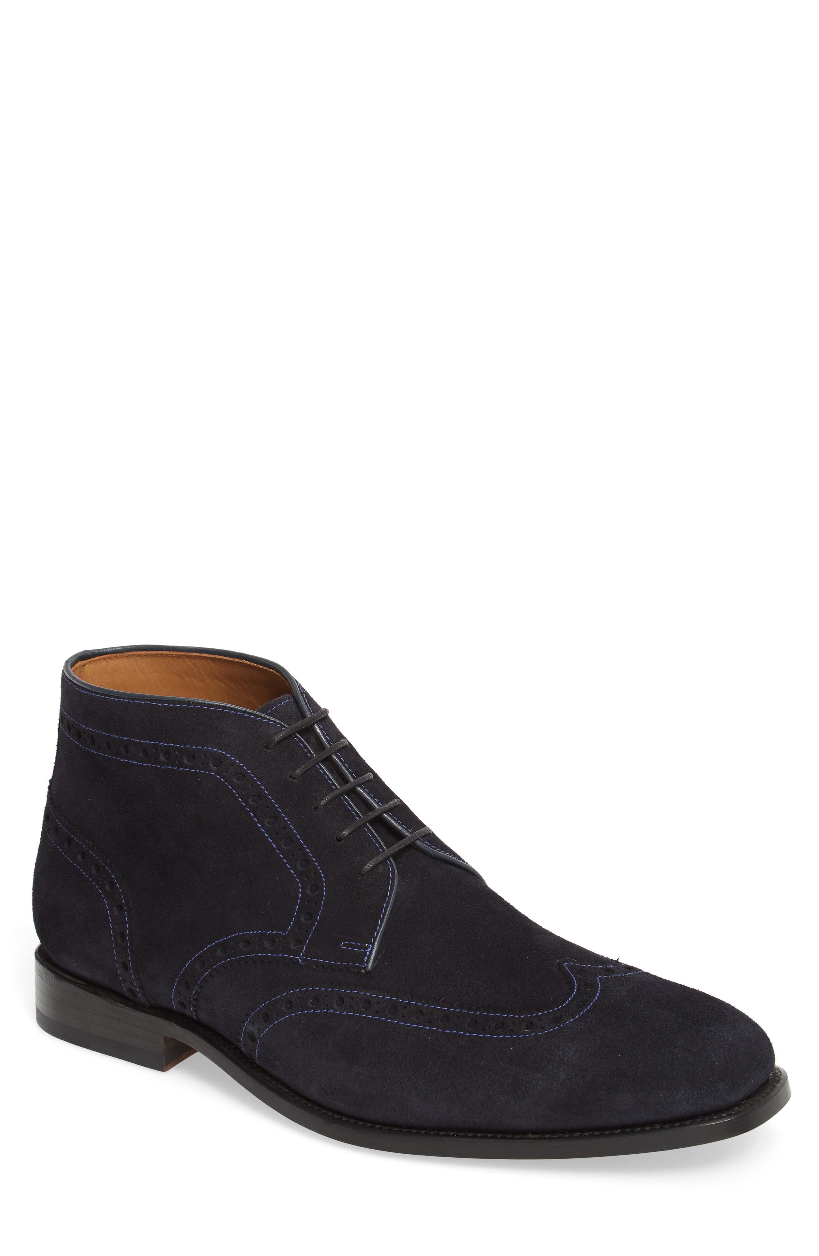 Presidio Wingtip Boot,                             Main thumbnail 1, color,                             NAVY