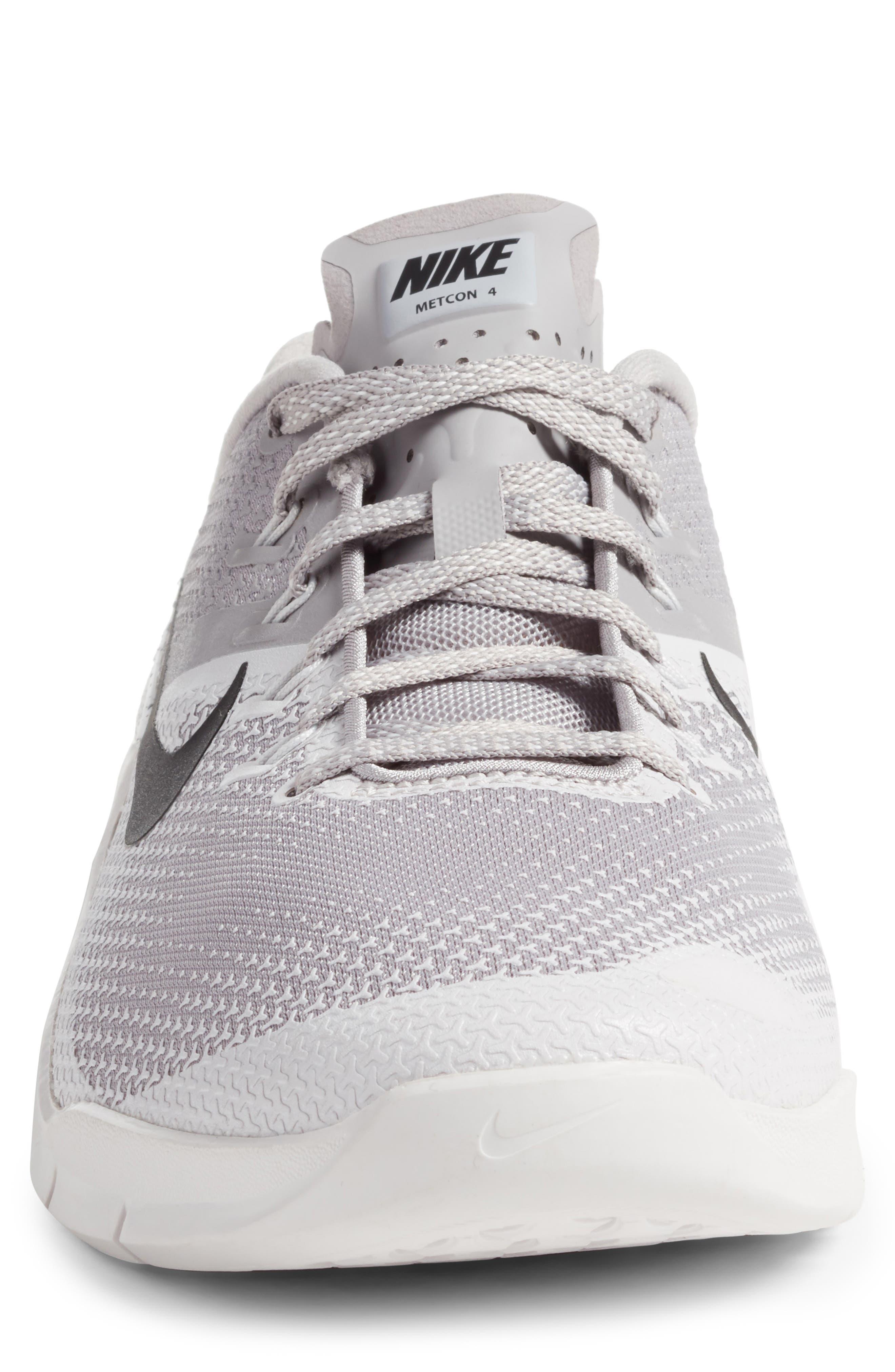 Metcon 4 Training Shoe,                             Alternate thumbnail 4, color,                             ATMOSPHERE GREY/ BLACK