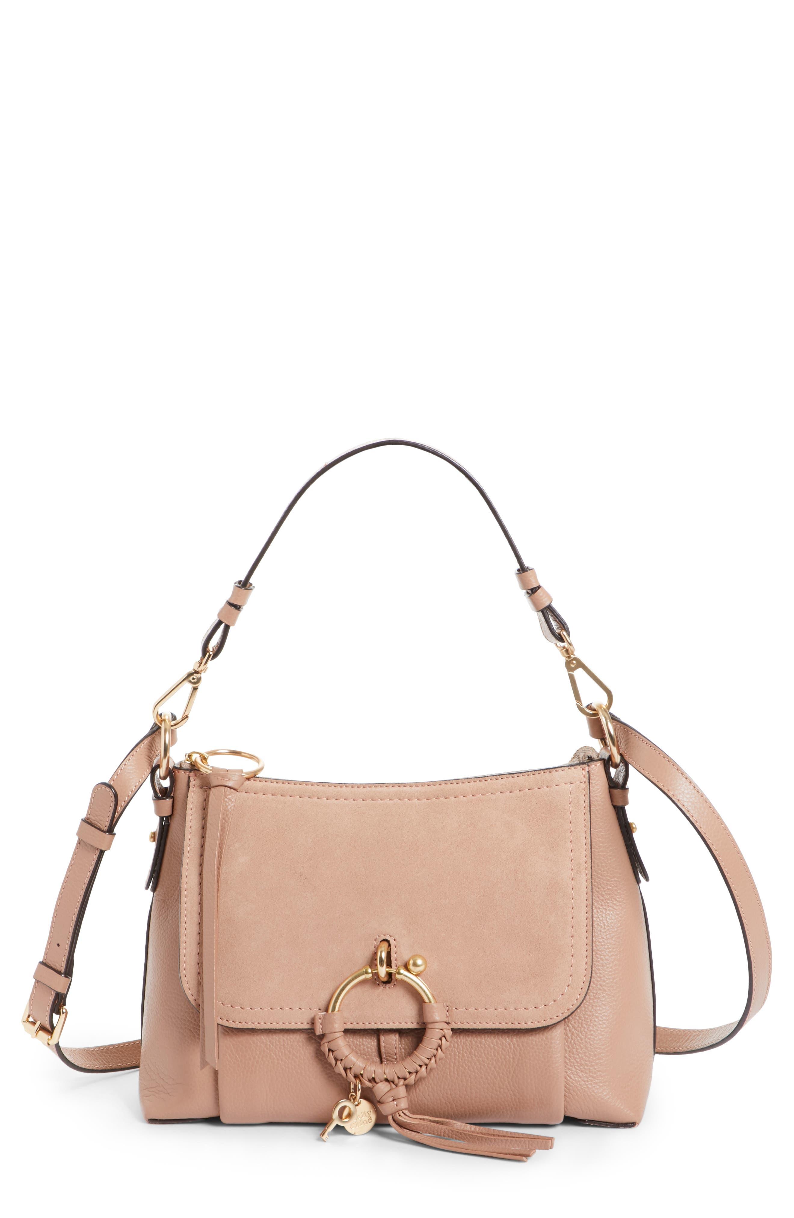 Small Joan Leather Shoulder Bag,                             Main thumbnail 1, color,                             650