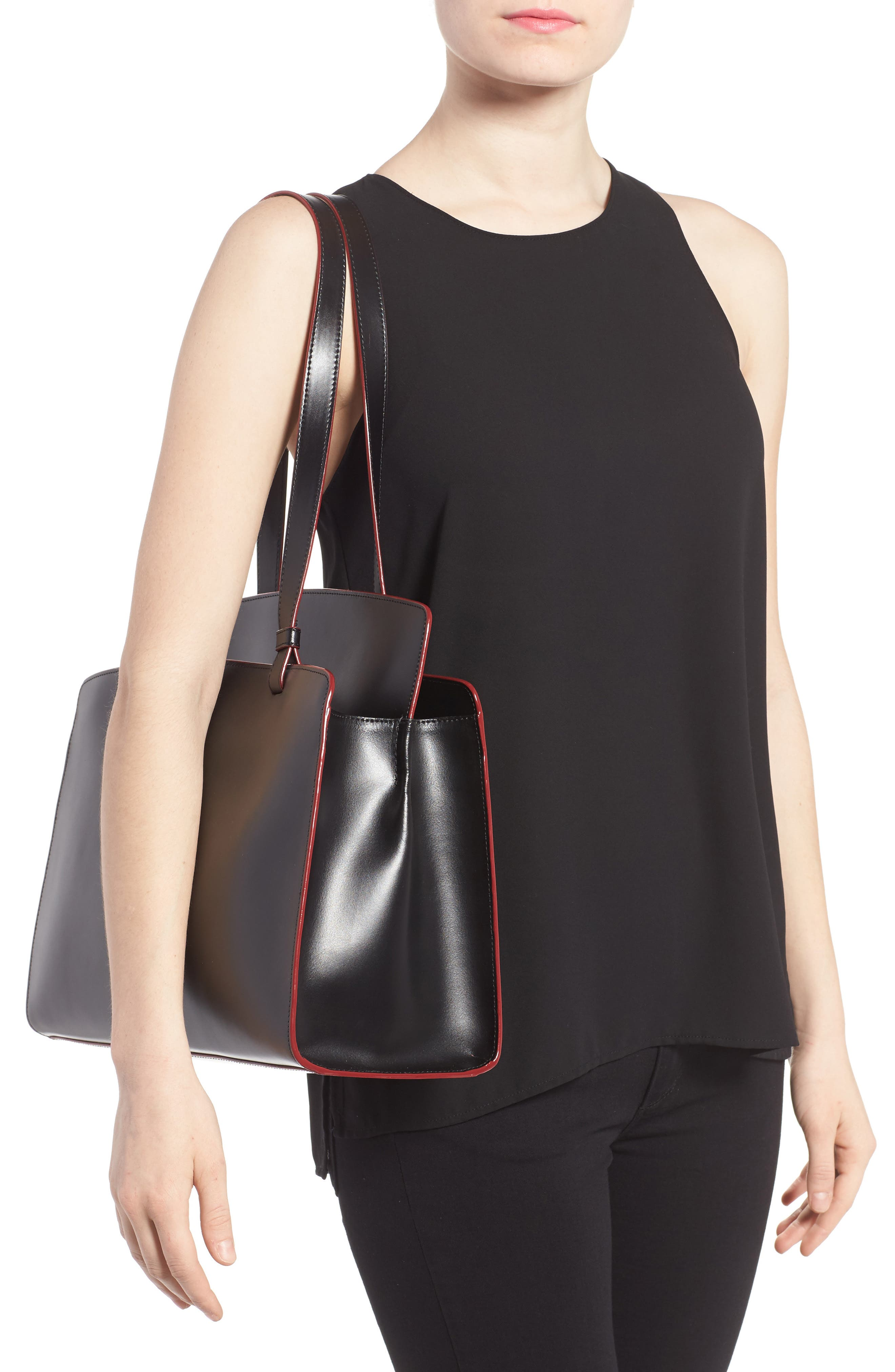 Lodis Audrey Collection - Jana Leather Tote,                             Alternate thumbnail 2, color,                             001