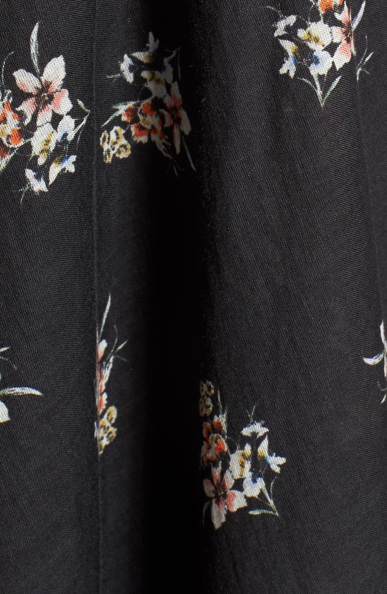Regal Midi Dress,                             Alternate thumbnail 5, color,                             001