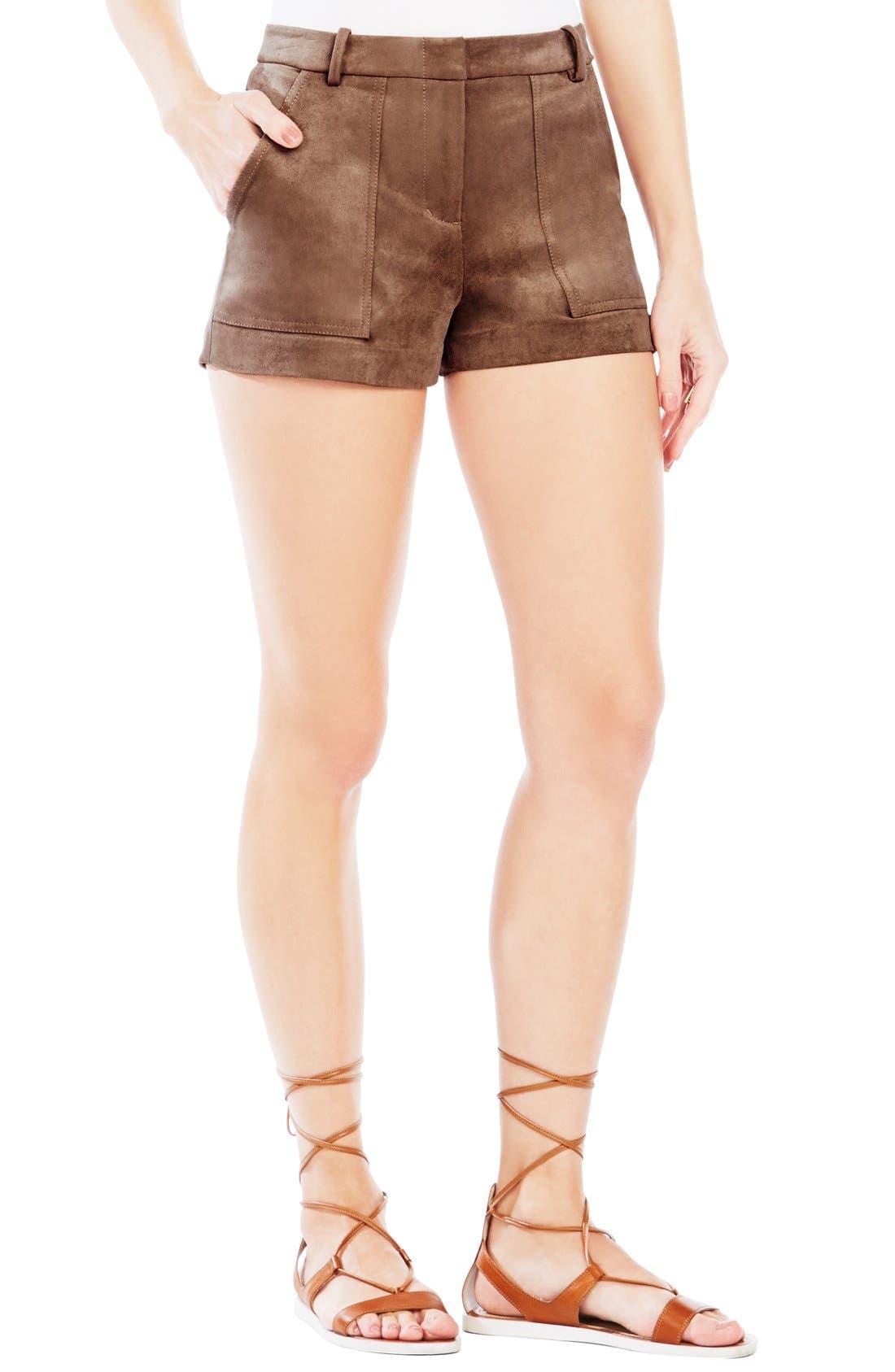 'Sergio' Faux Suede Shorts, Main, color, 249
