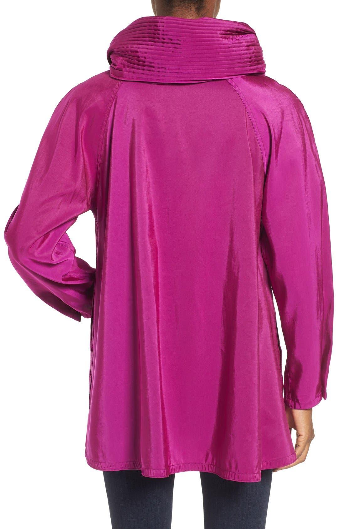 'Mini Donatella' Reversible Pleat Hood Packable Travel Coat,                             Alternate thumbnail 28, color,