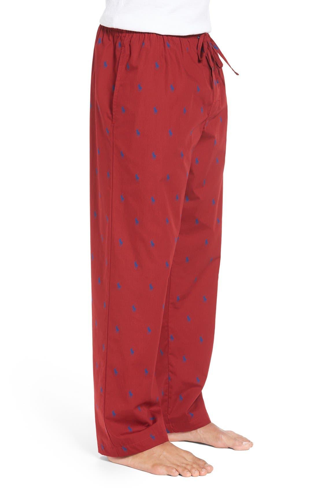 Cotton Lounge Pants,                             Alternate thumbnail 38, color,