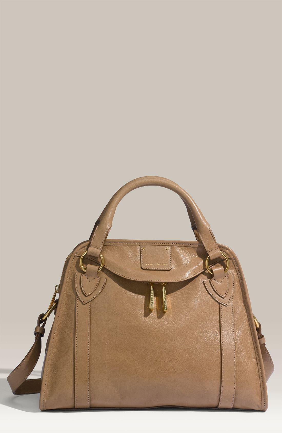 'Classic Wellington' Leather Satchel,                             Main thumbnail 7, color,
