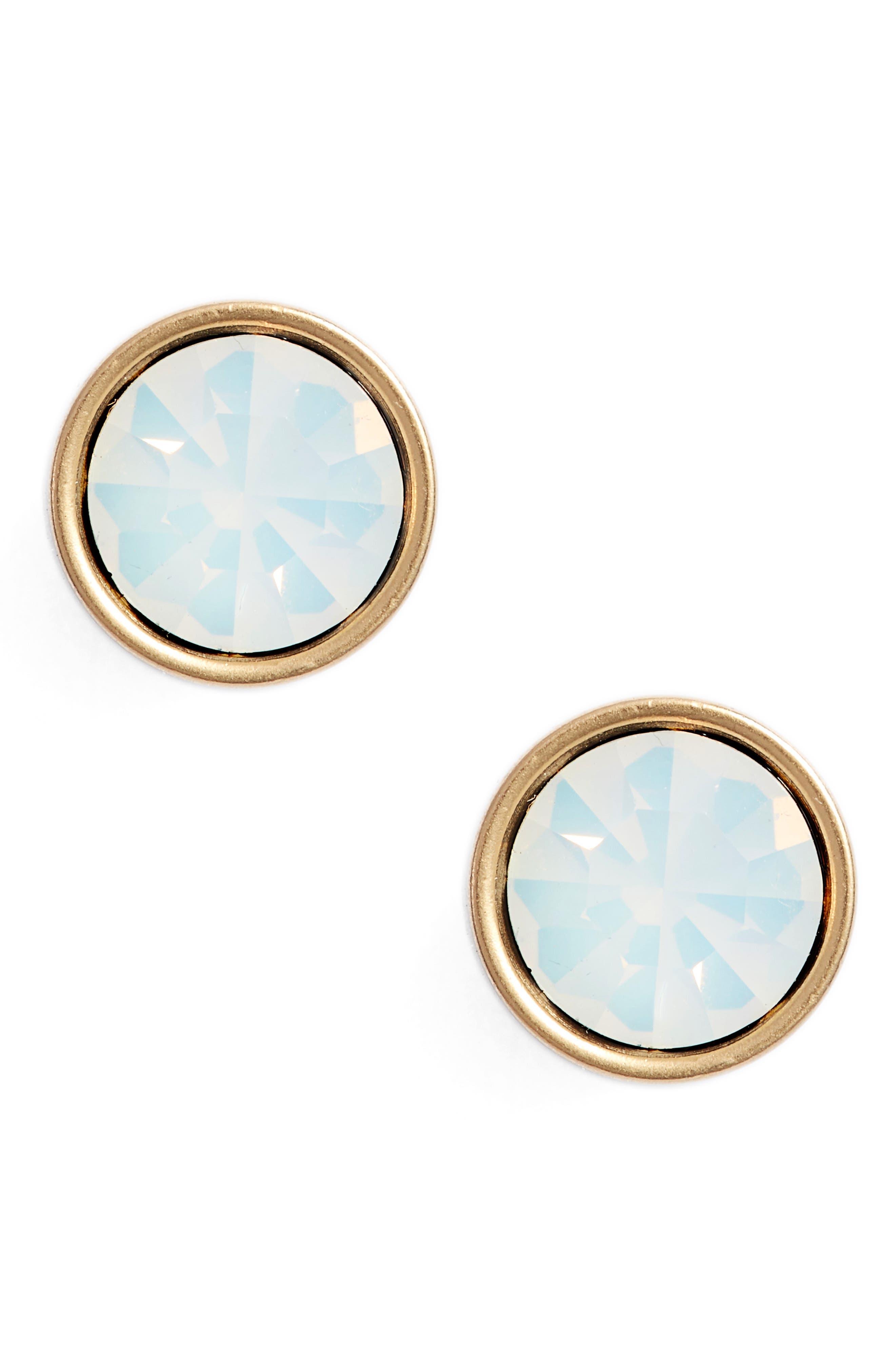 Bezel Set Stud Earrings,                             Main thumbnail 5, color,