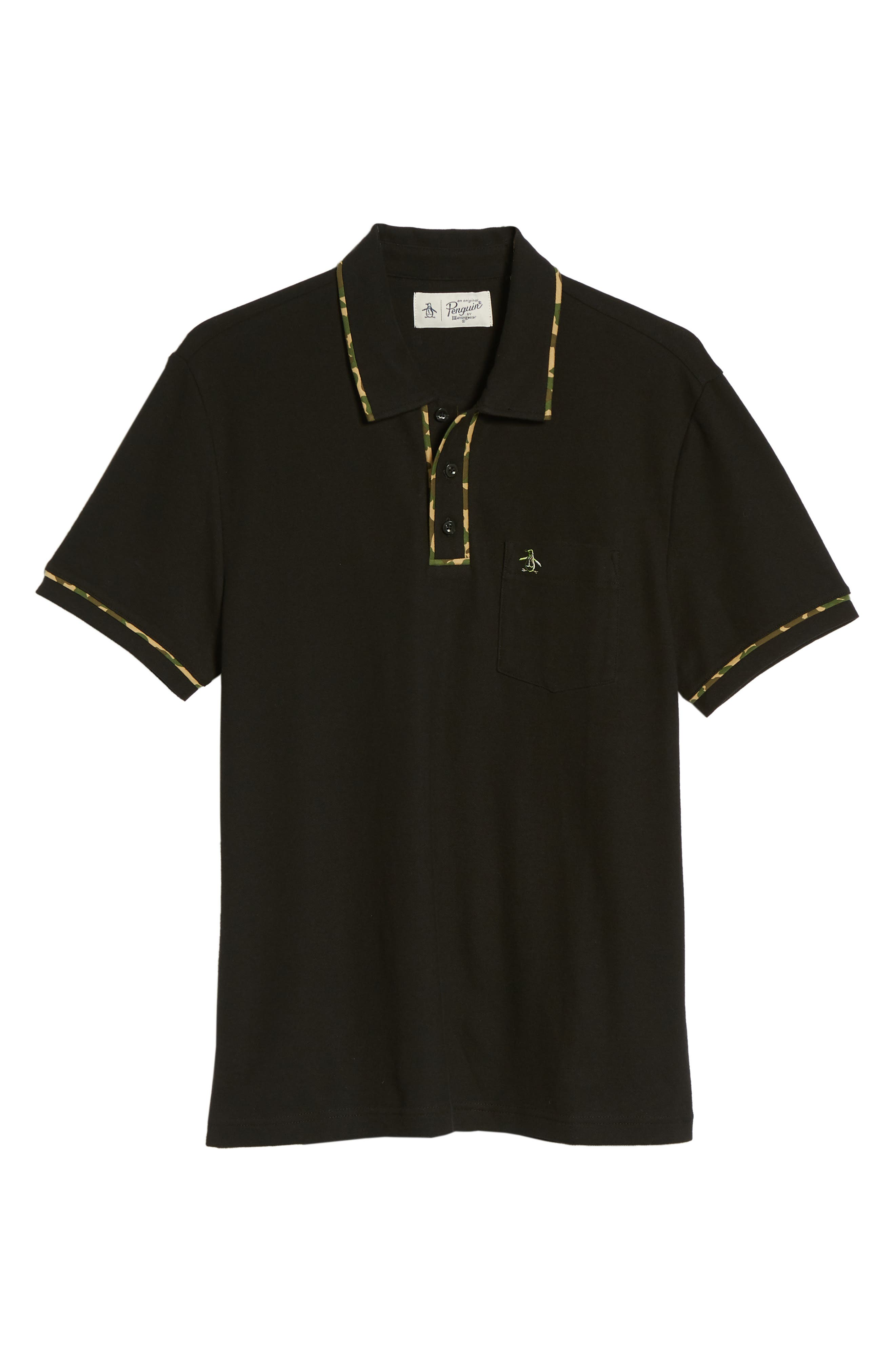 Earl Camo Trim Polo,                             Alternate thumbnail 6, color,                             010