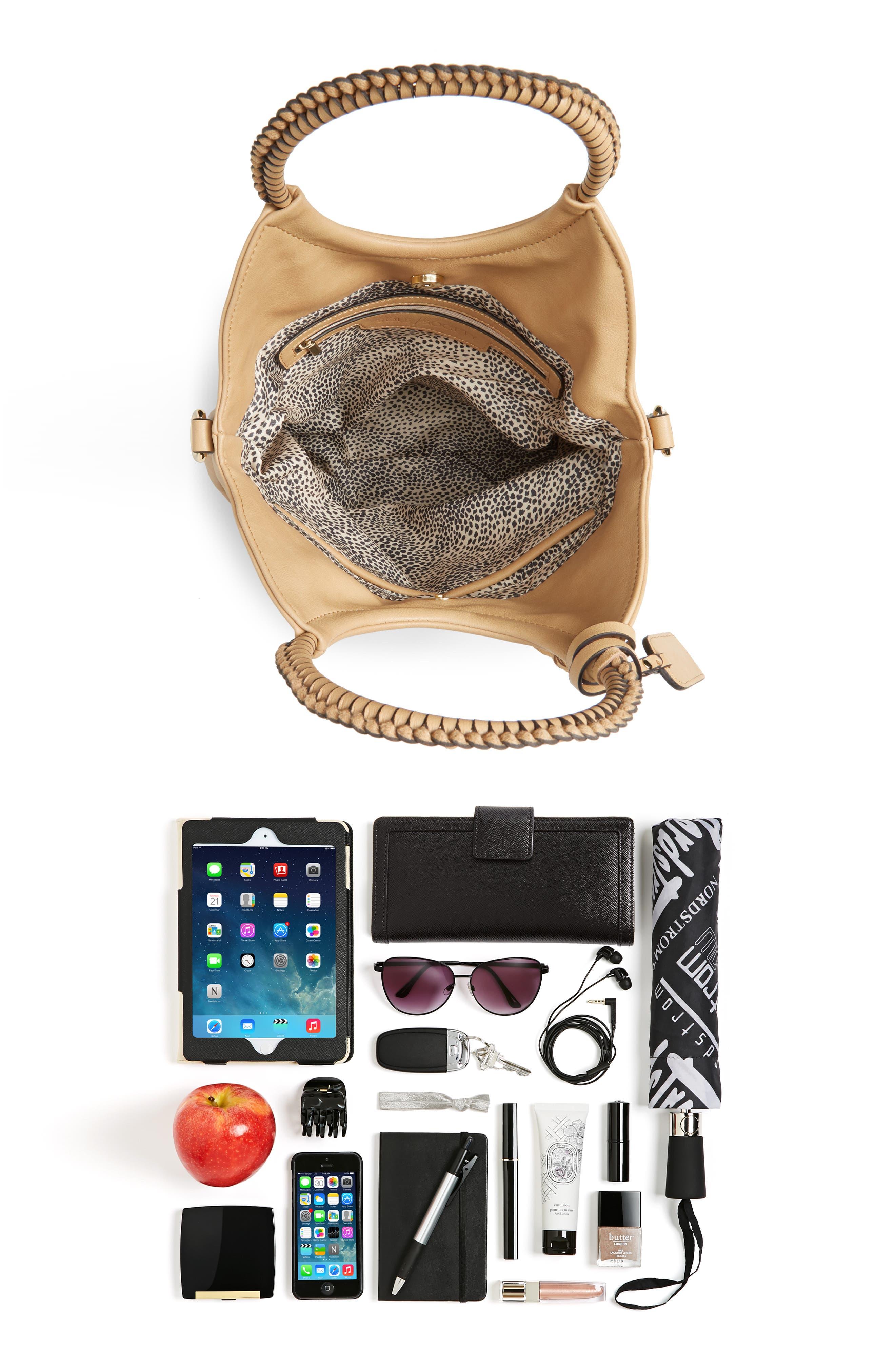 Faux Leather Bracelet Bag,                             Alternate thumbnail 7, color,                             SAFARI