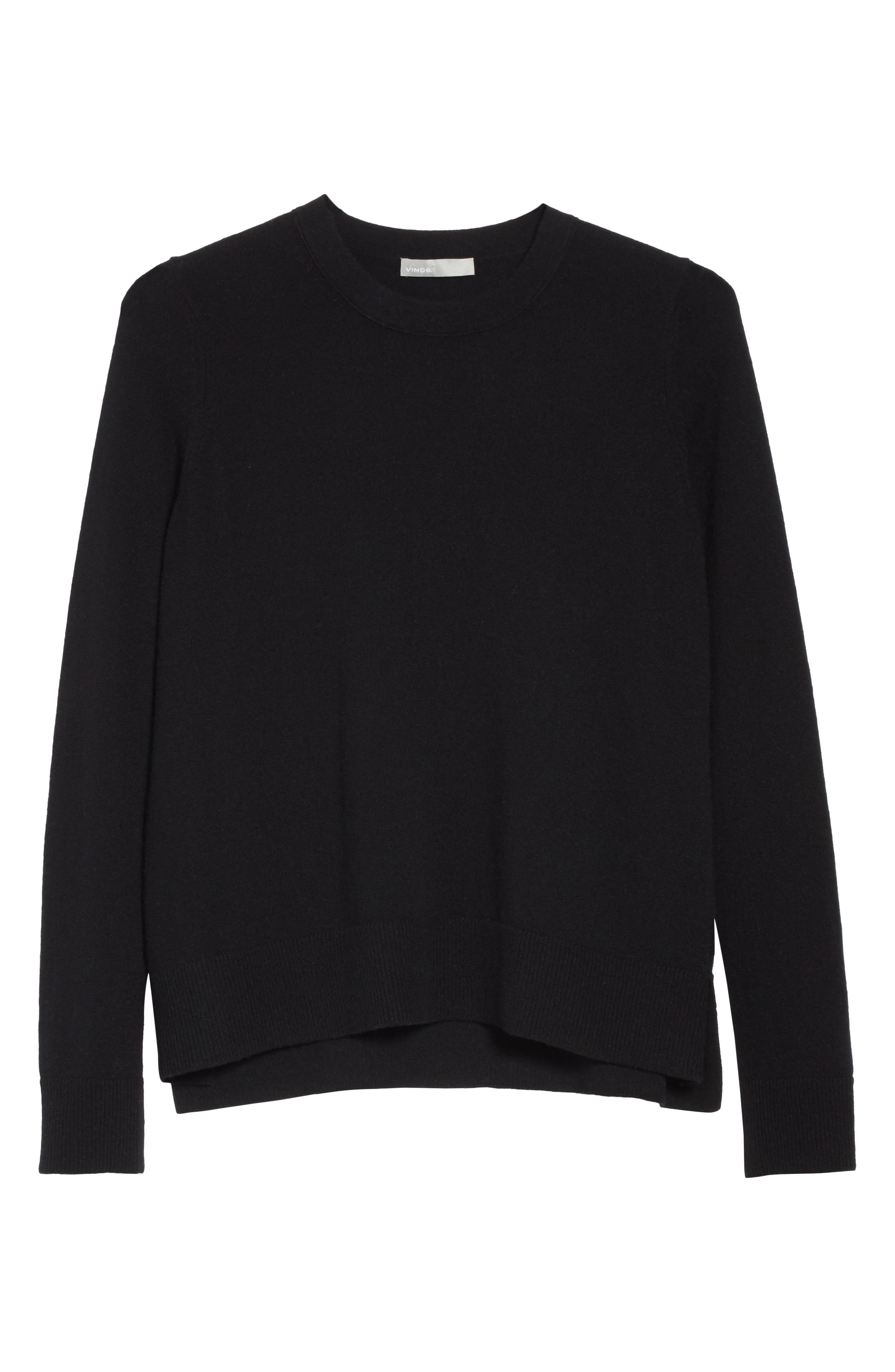 Cashmere Sweater,                             Alternate thumbnail 6, color,                             001