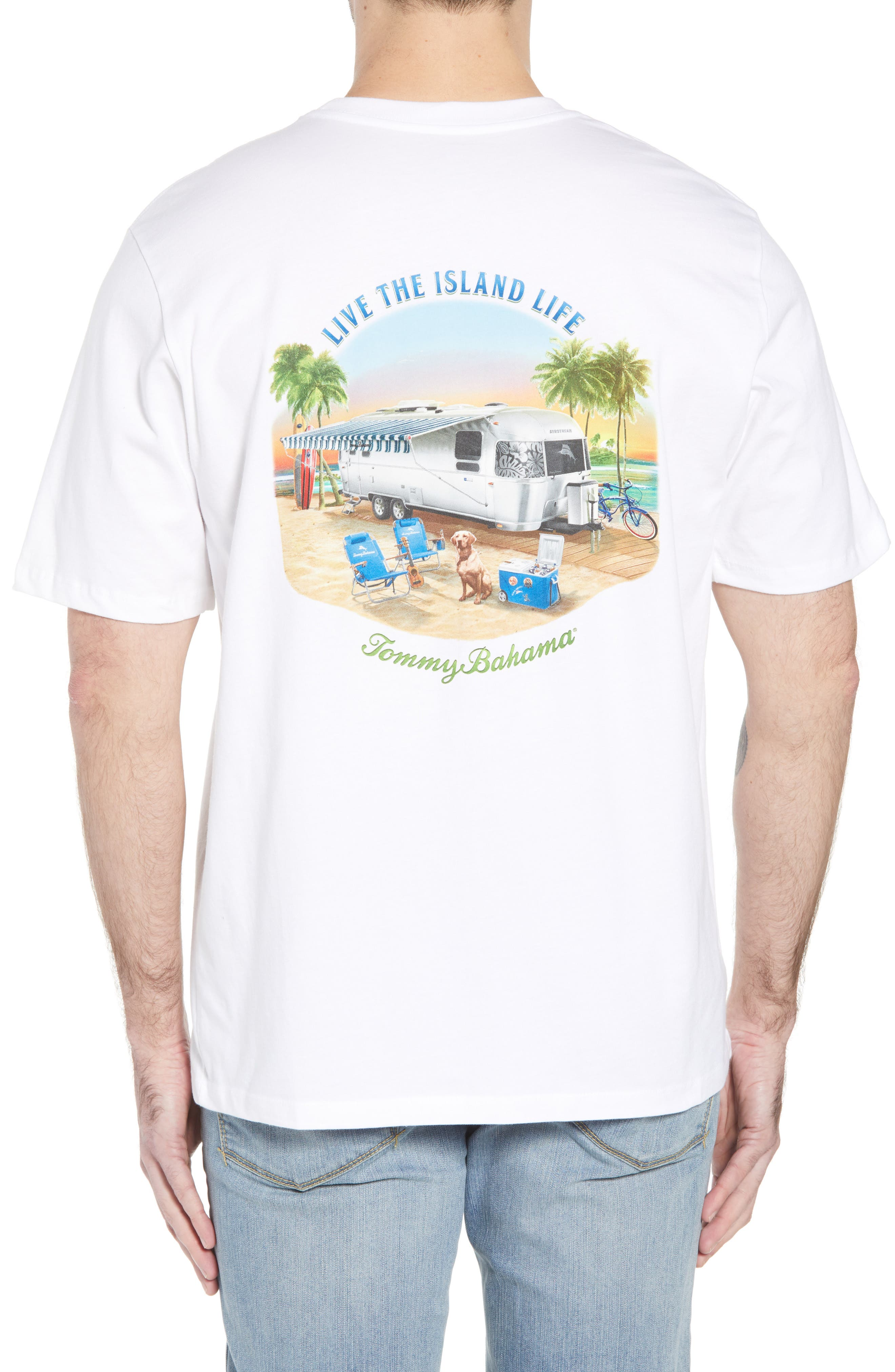 Live the Island Life Graphic T-Shirt,                             Alternate thumbnail 2, color,