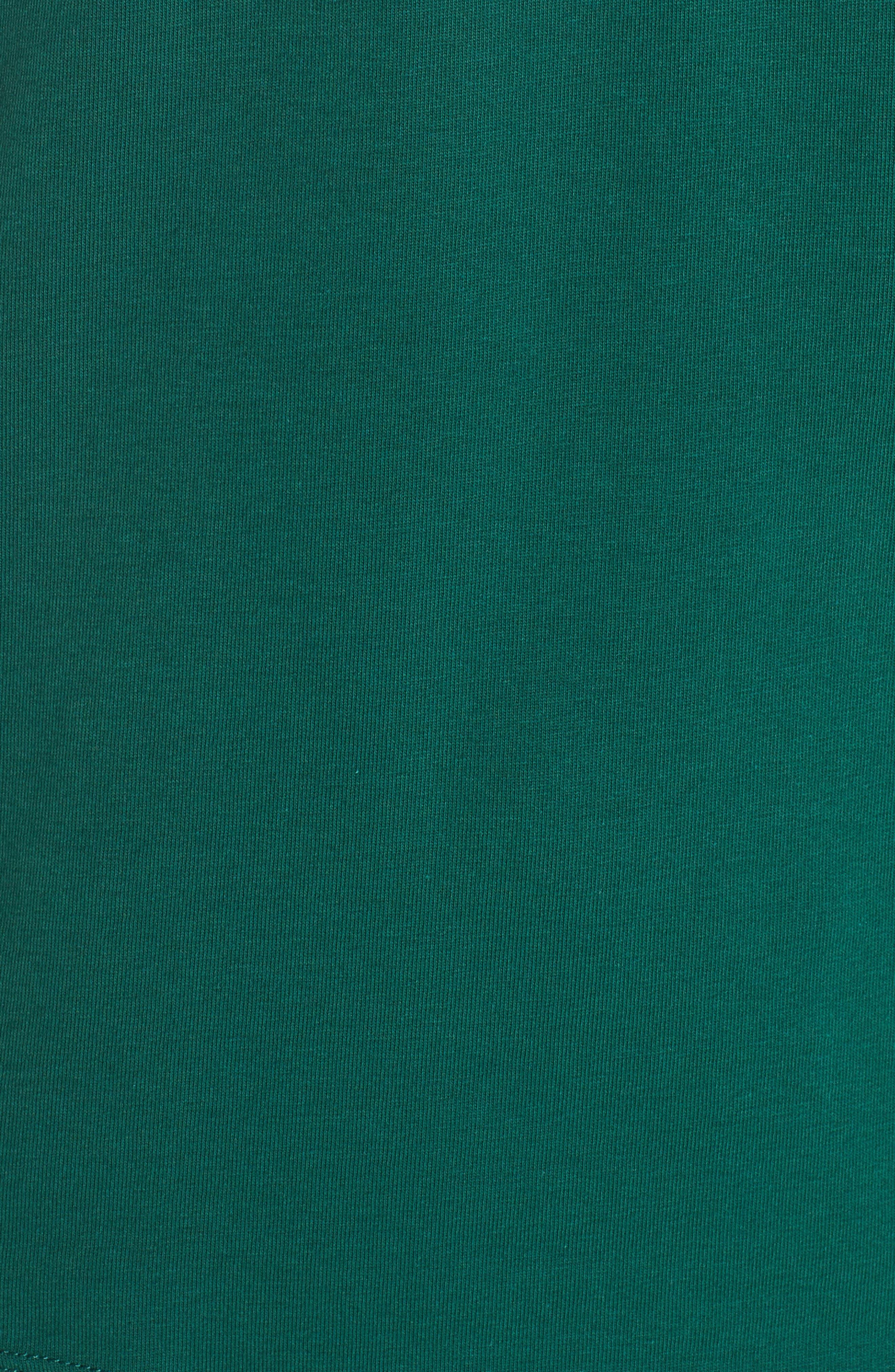 adidas Trefoil Tee,                             Alternate thumbnail 6, color,                             COLLEGIATE GREEN