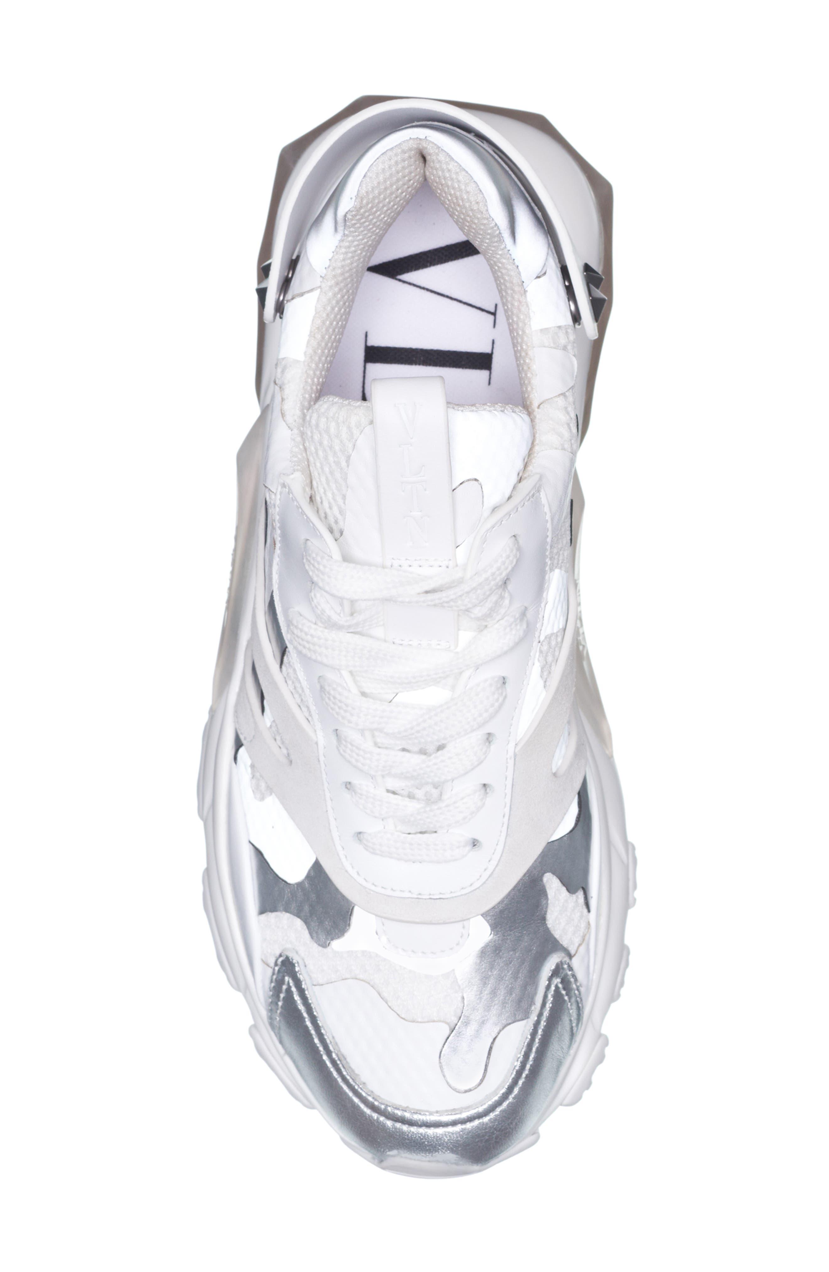 Camo Sneaker,                             Alternate thumbnail 4, color,                             WHITE