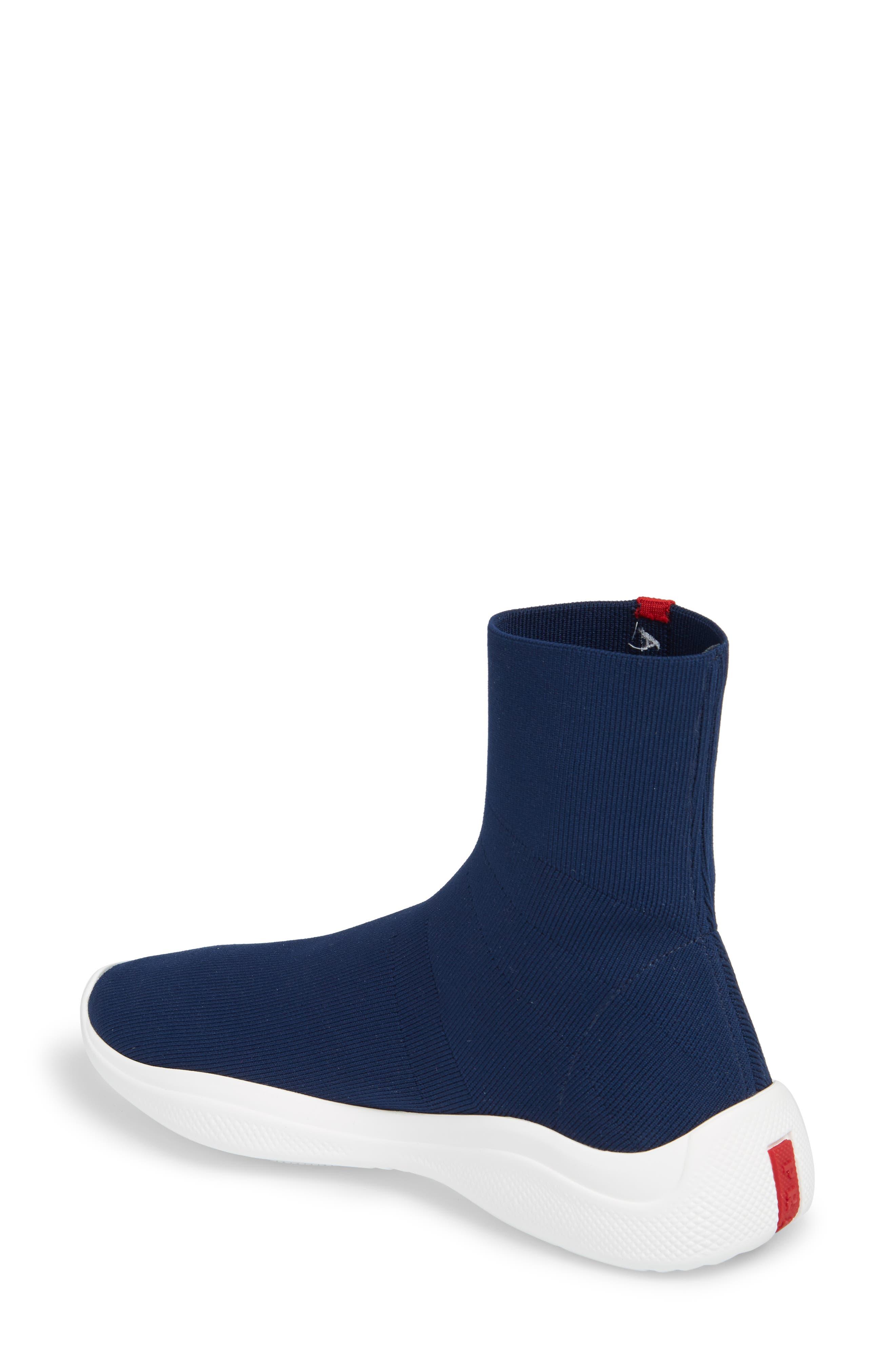 Logo Band Sock Sneaker,                             Alternate thumbnail 2, color,                             ROYAL BLUE